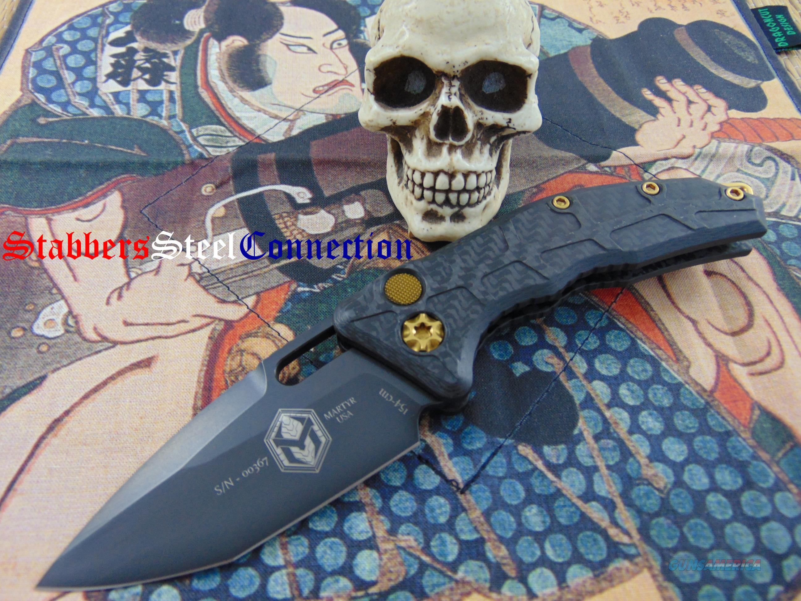 Heretic Knives / Anthony Marfione Jr Martyr Auto Tanto W/ Gold Hardware  Non-Guns > Knives/Swords > Knives > Folding Blade > Hand Made