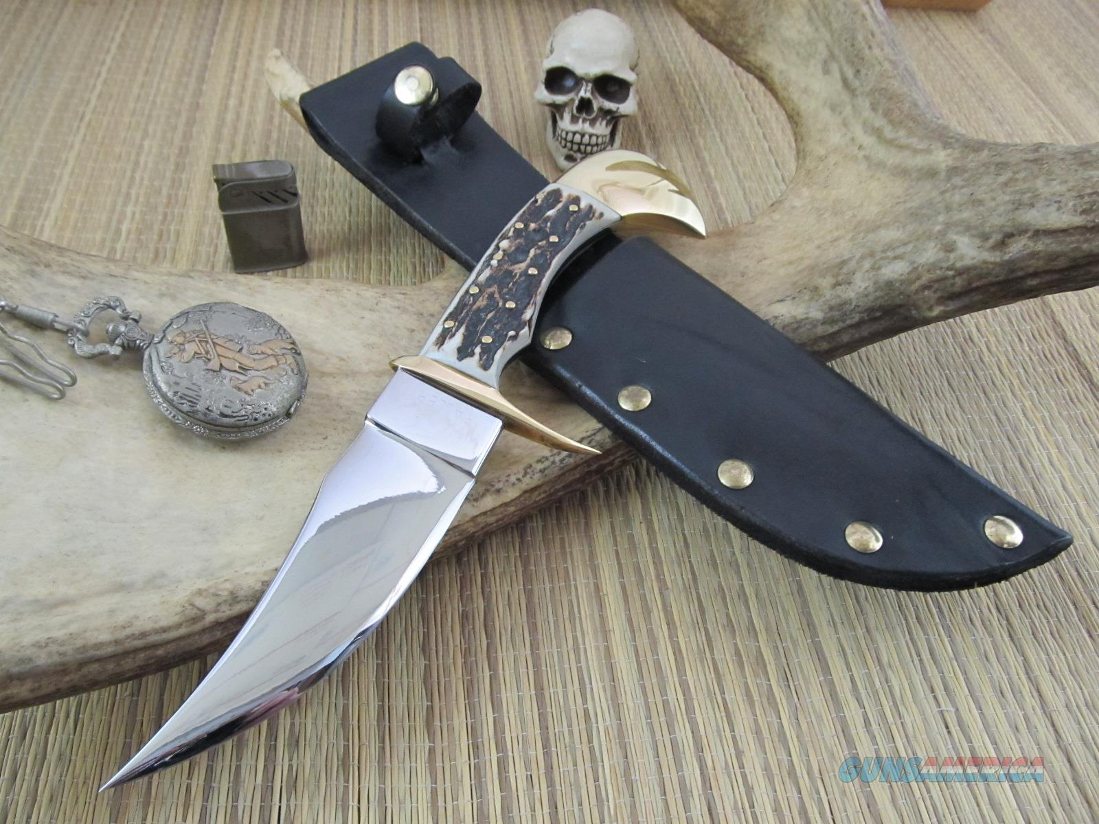 Raller Custom Stag Fighter Custom Hand Made Gorgeous Stag Fighter  Non-Guns > Knives/Swords > Knives > Fixed Blade > Hand Made