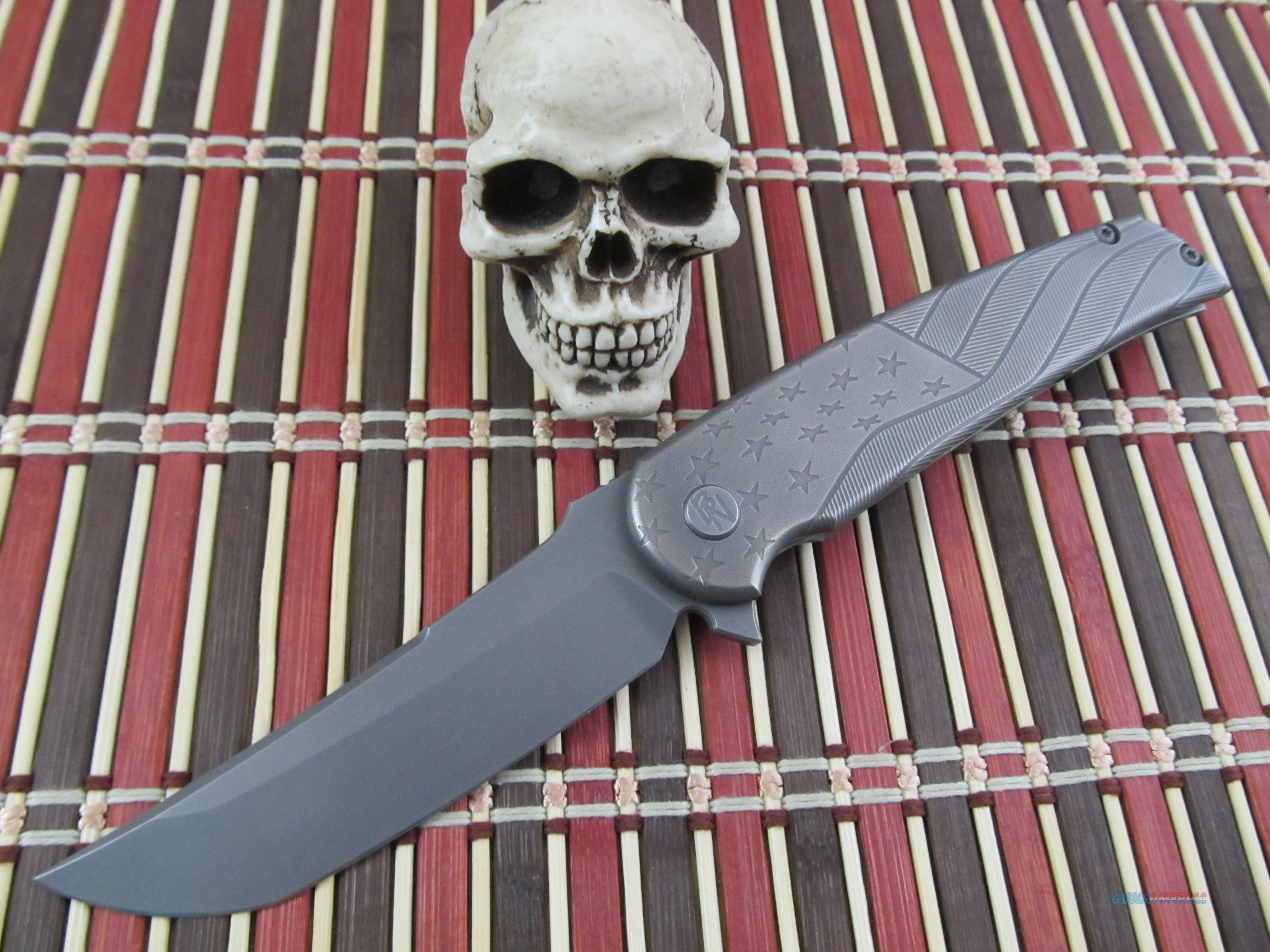 Sharp by Design Knives Brian Nadeau Owner / Maker Prototype Wavy Flag Hurricane   Non-Guns > Knives/Swords > Knives > Folding Blade > Hand Made