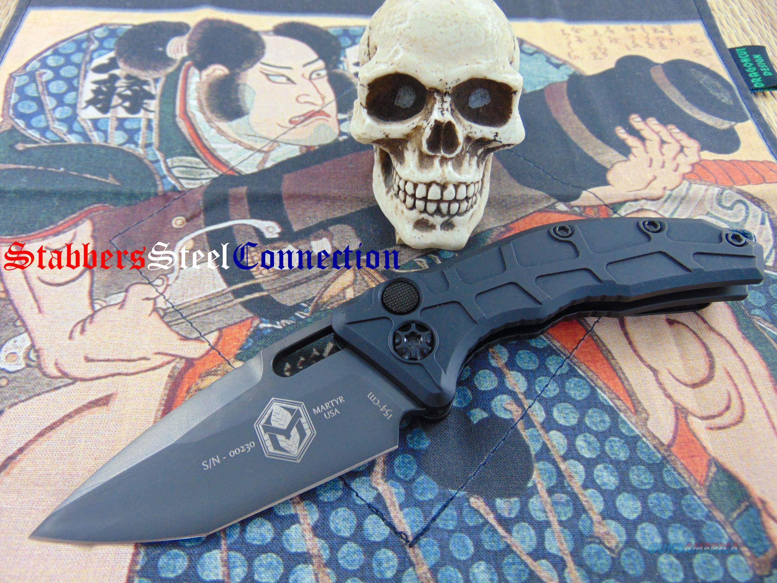 Heretic Knives / Anthony Marfione Jr Martyr Auto DLC Tanto  Non-Guns > Knives/Swords > Knives > Folding Blade > Hand Made
