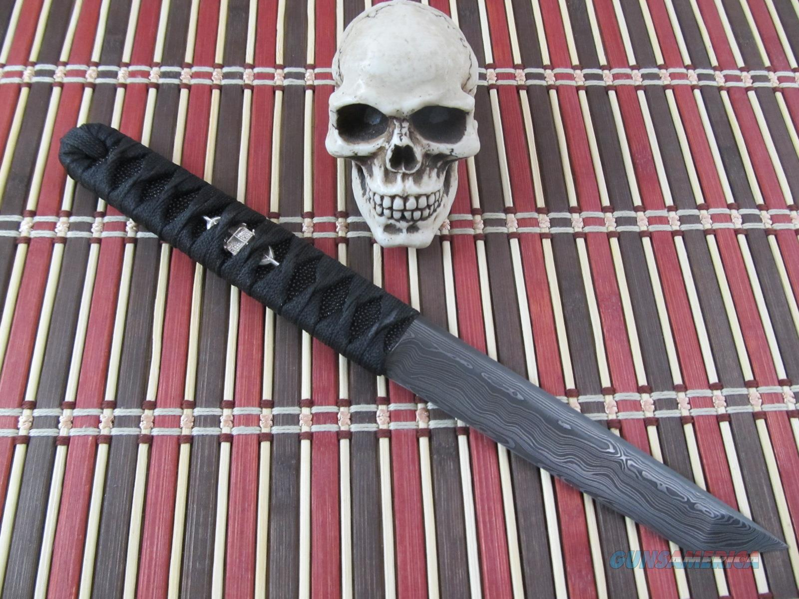 Wally Hayes MS-Master Smith Damascus Tanto / Fighter / EDC  Non-Guns > Knives/Swords > Knives > Fixed Blade > Hand Made