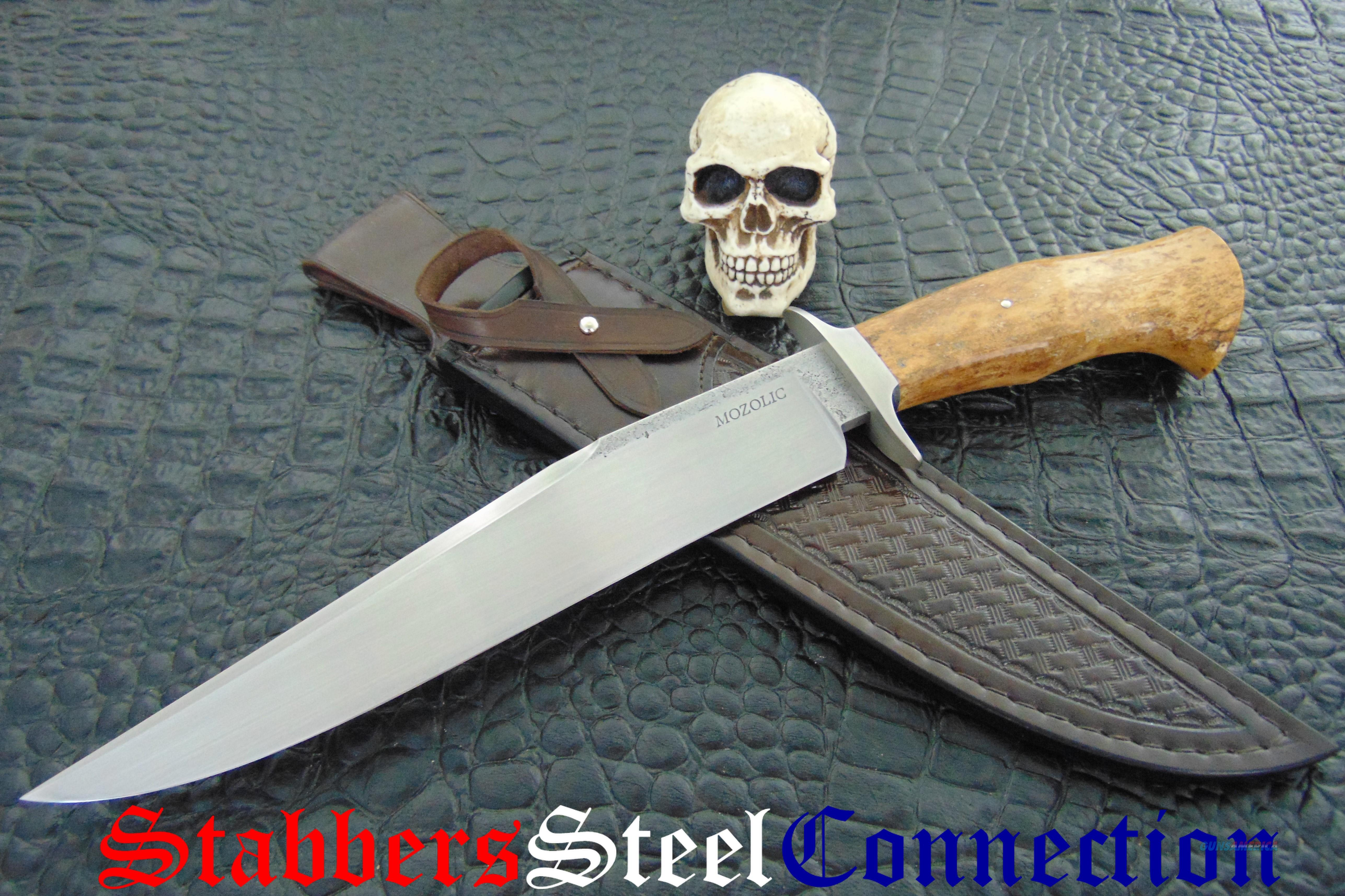 Milan Mozolic Gorgeous Hand Forged Stellar Sea Cow Fighter / Bowie  Non-Guns > Knives/Swords > Knives > Fixed Blade > Hand Made