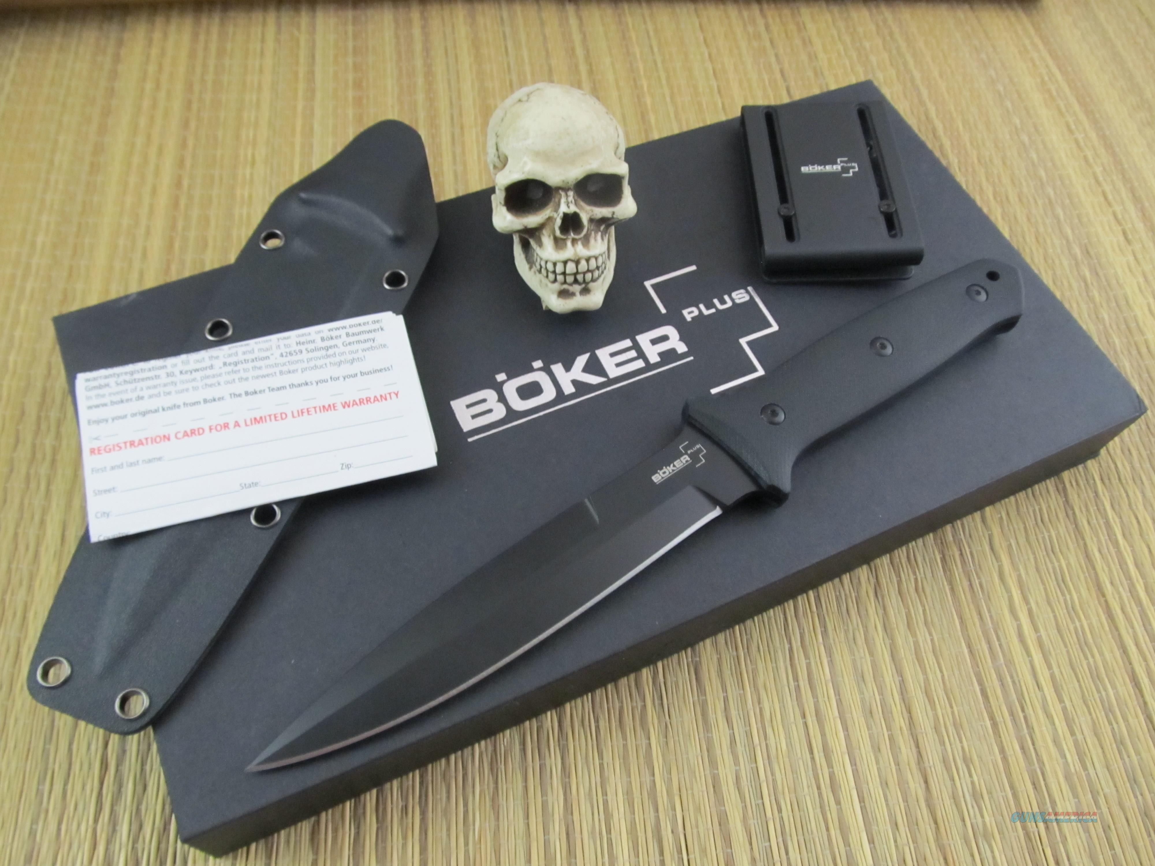 Boker Plus Knives Lucas Burnley Design Striker Fighter BLK/BLK  Non-Guns > Knives/Swords > Knives > Fixed Blade > Hand Made