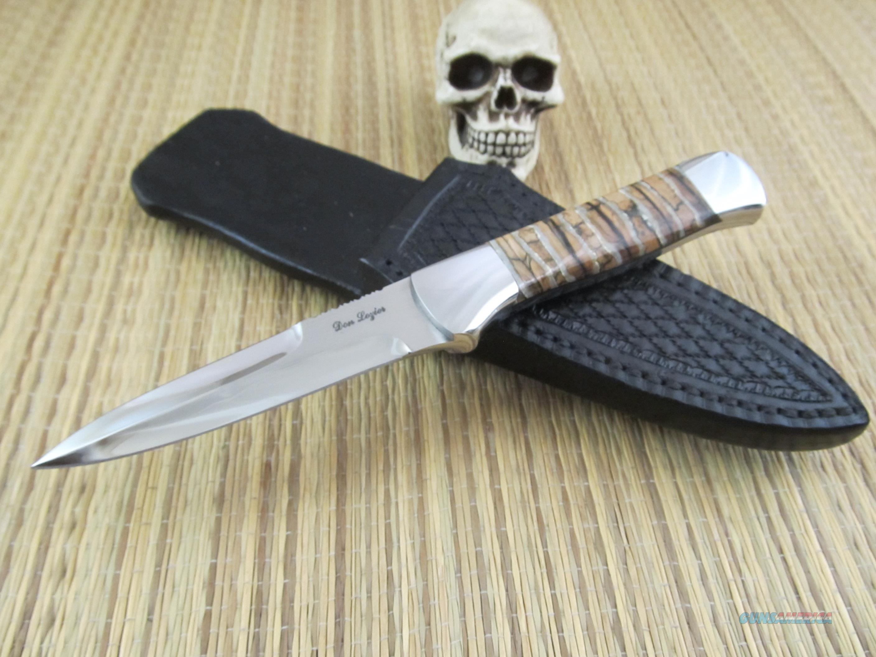 Don Lozier Gorgeous Mammoth Tooth Utility Fighter  Non-Guns > Knives/Swords > Knives > Fixed Blade > Hand Made