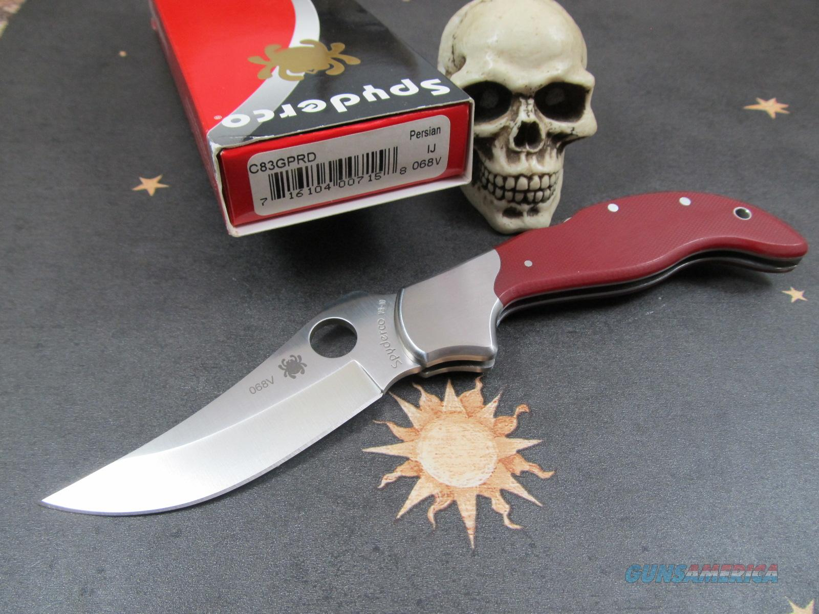 Spyderco Ed Shempp Design Rare LTD #068V Red Persian  Non-Guns > Knives/Swords > Knives > Folding Blade > Imported
