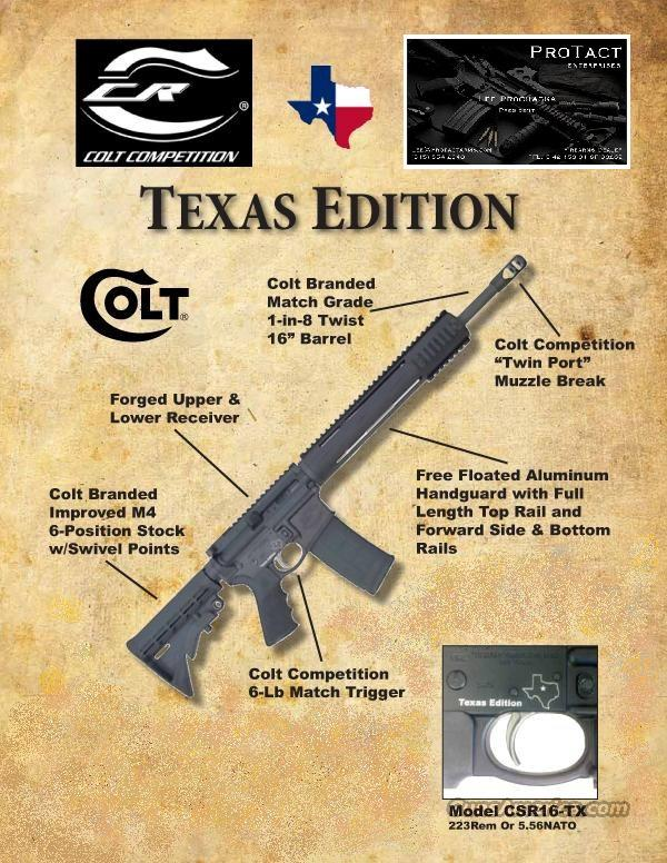 "Colt Competition .223/5.56 - ""TX Edition"" Magpul  Guns > Rifles > Colt Military/Tactical Rifles"
