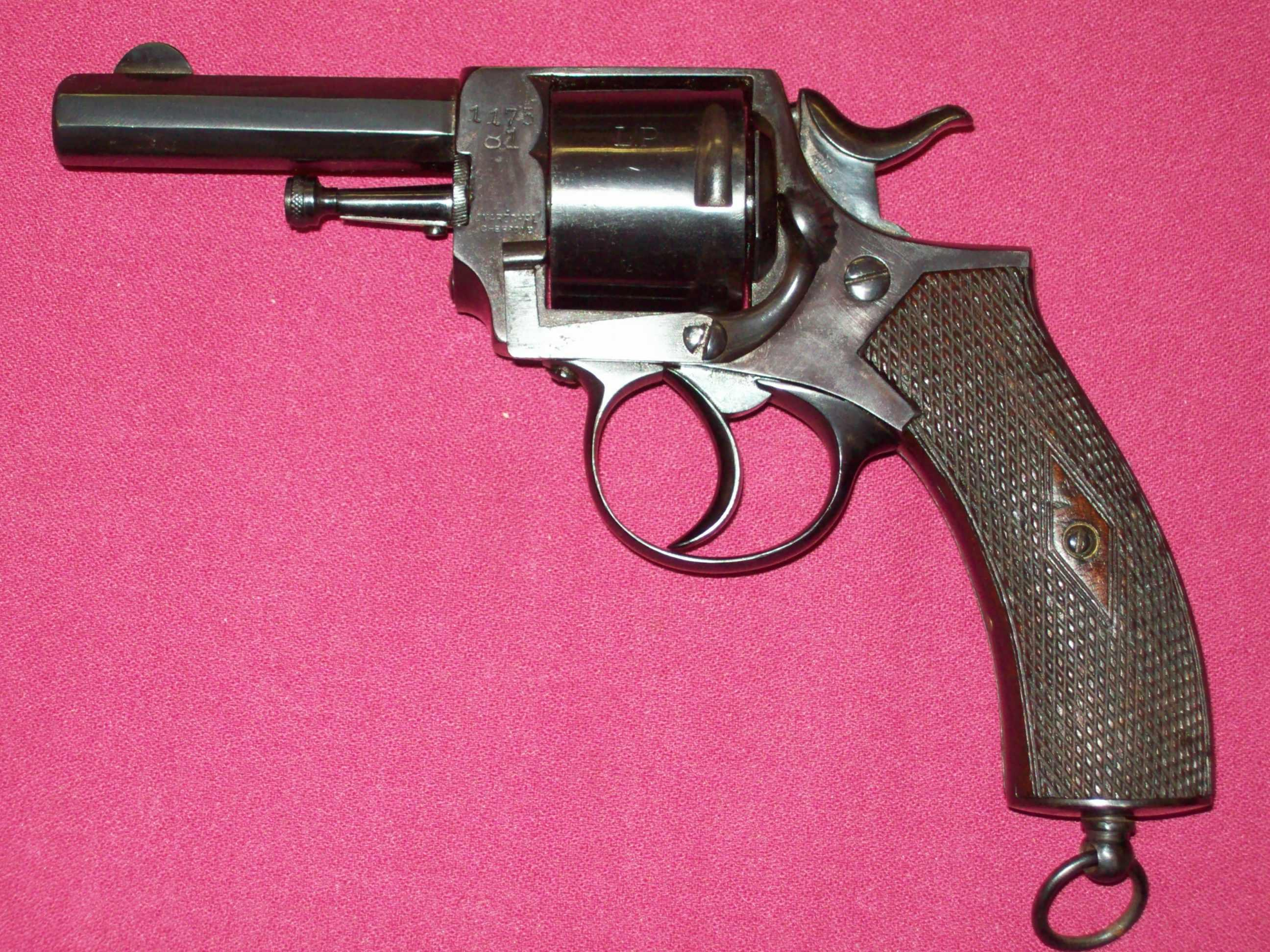 J. Marechal Chercile 9mm antique revolver for sale