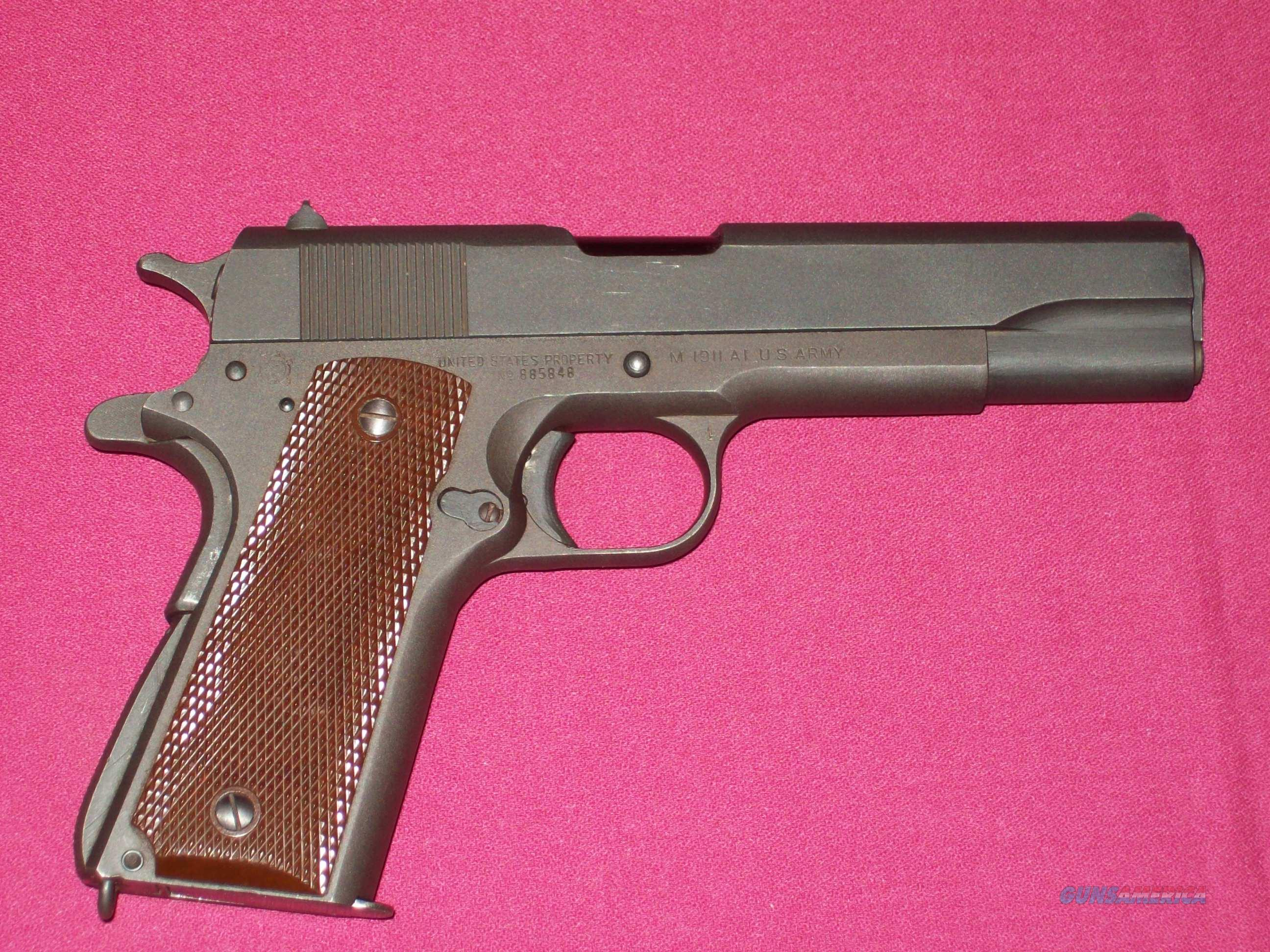 Ithaca 1911-A1 pistol 1942 production  Guns > Pistols > Military Misc. Pistols US > 1911 Pattern