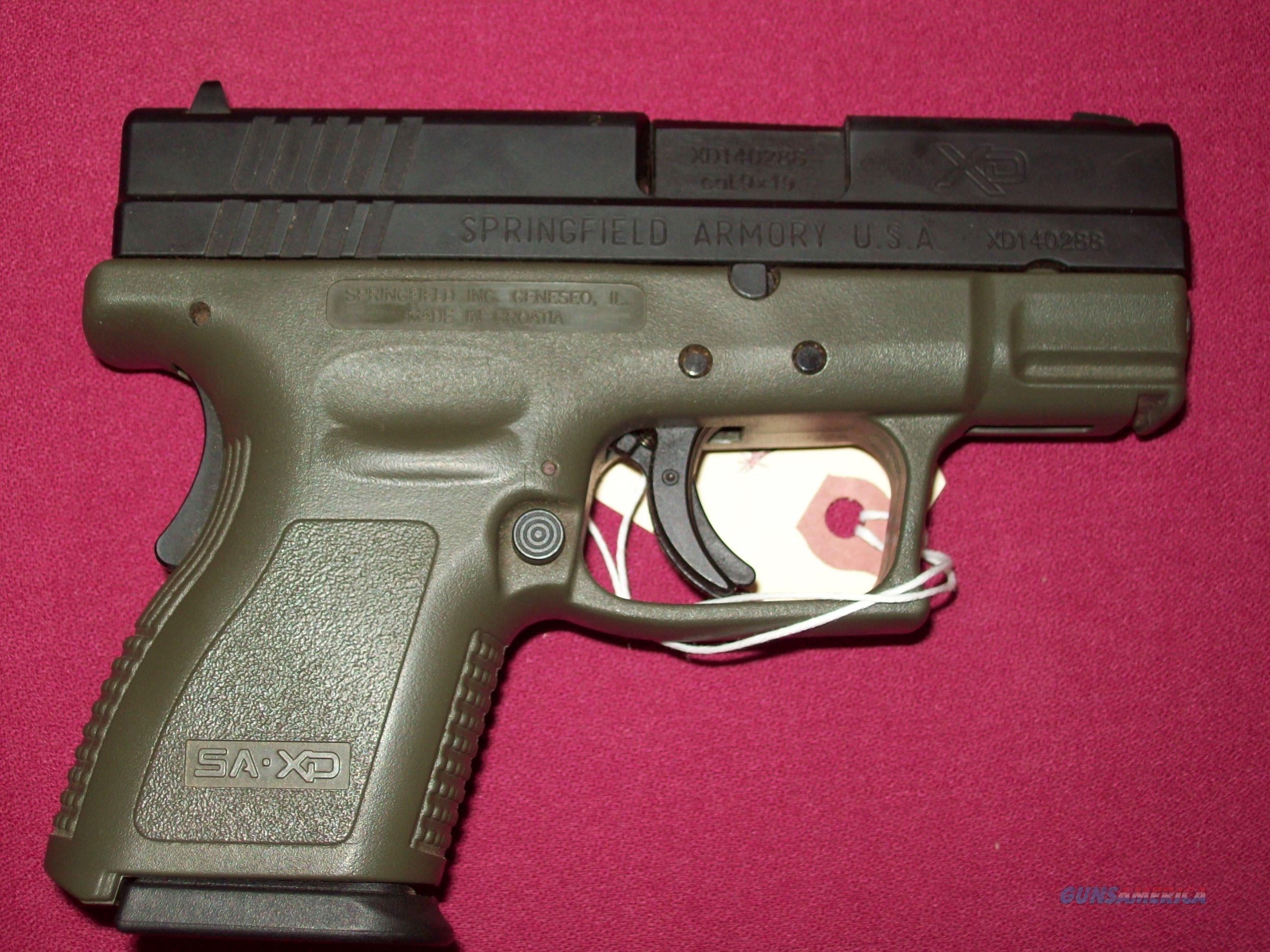 Springfield Armory Xd9 Sub Compact For Sale