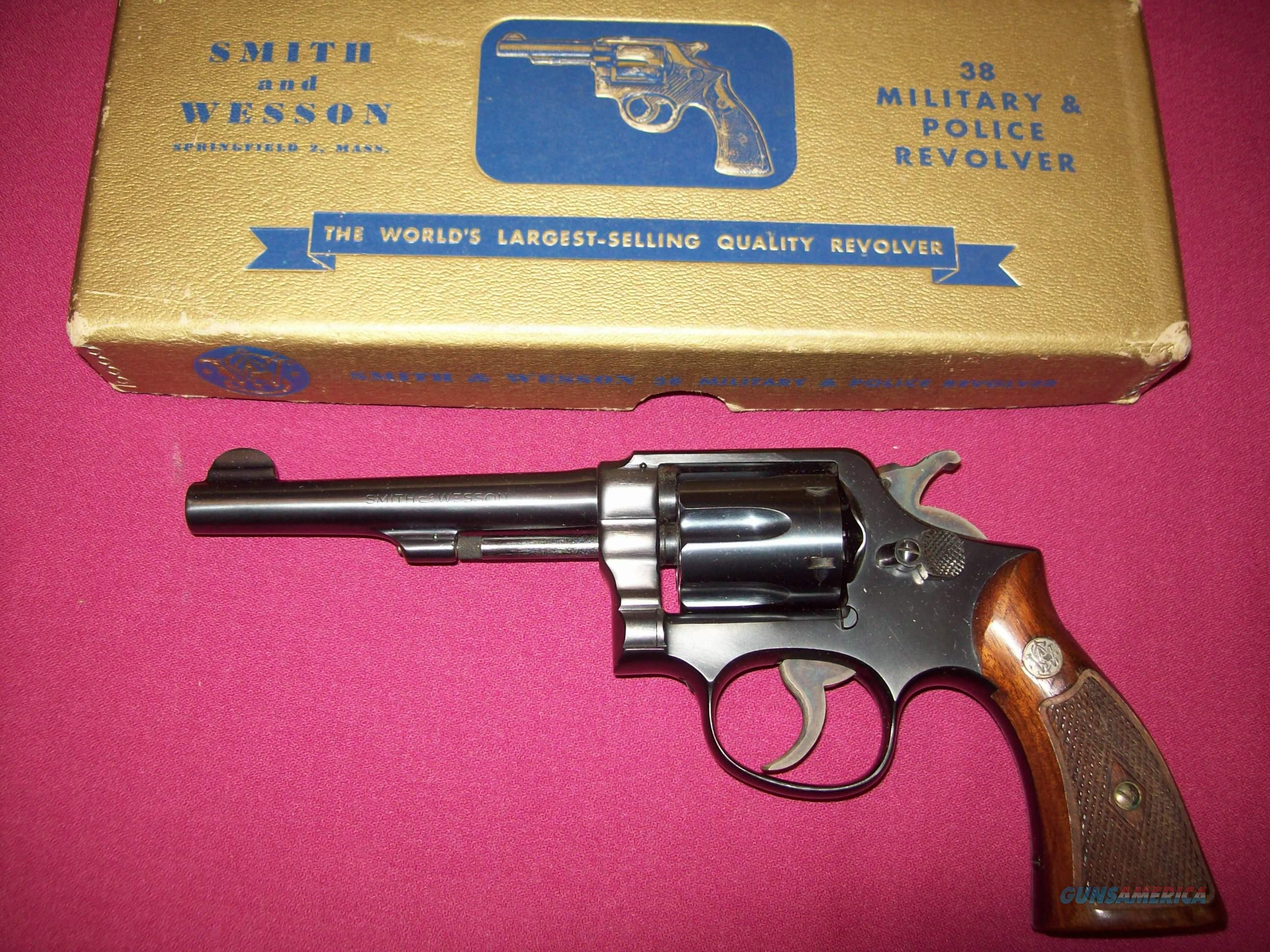 Smith & Wesson Military and Police 5 inch in Gold Box  Guns > Pistols > Smith & Wesson Revolvers > Full Frame Revolver