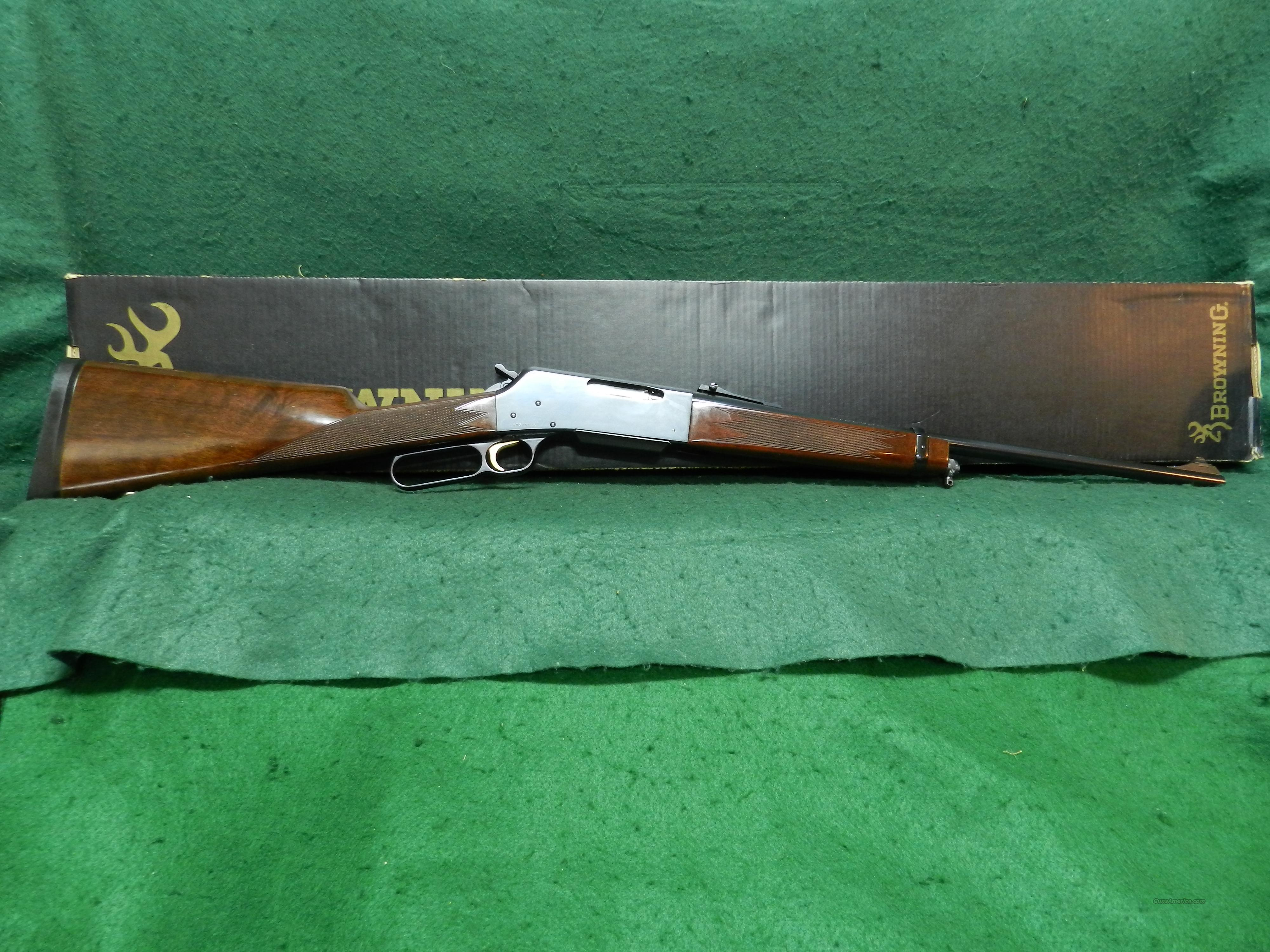 Browning 81 BLR  Guns > Rifles > Browning Rifles > Lever Action