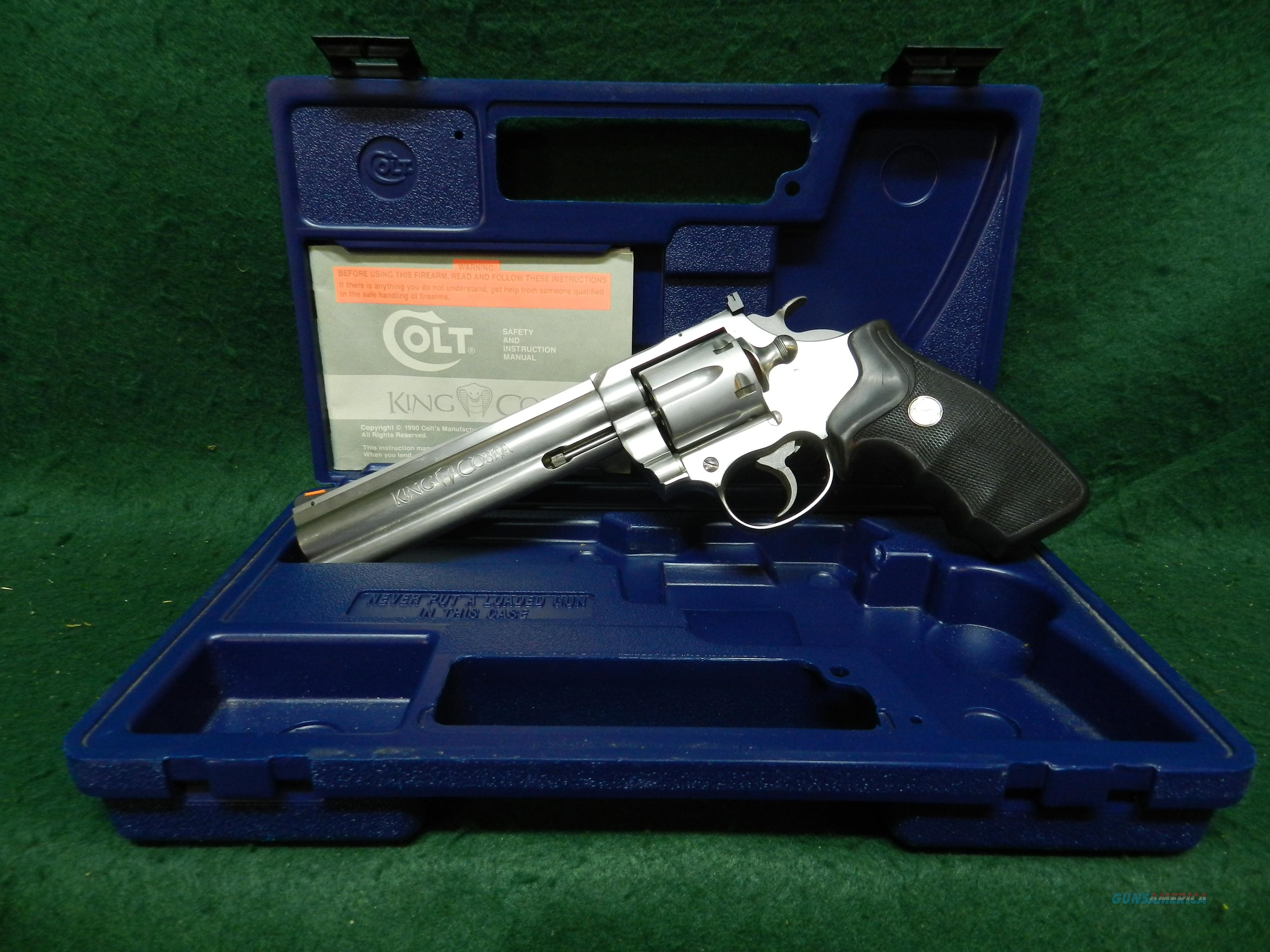 Colt King Cobra Stainless Steel  Guns > Pistols > Colt Double Action Revolvers- Modern