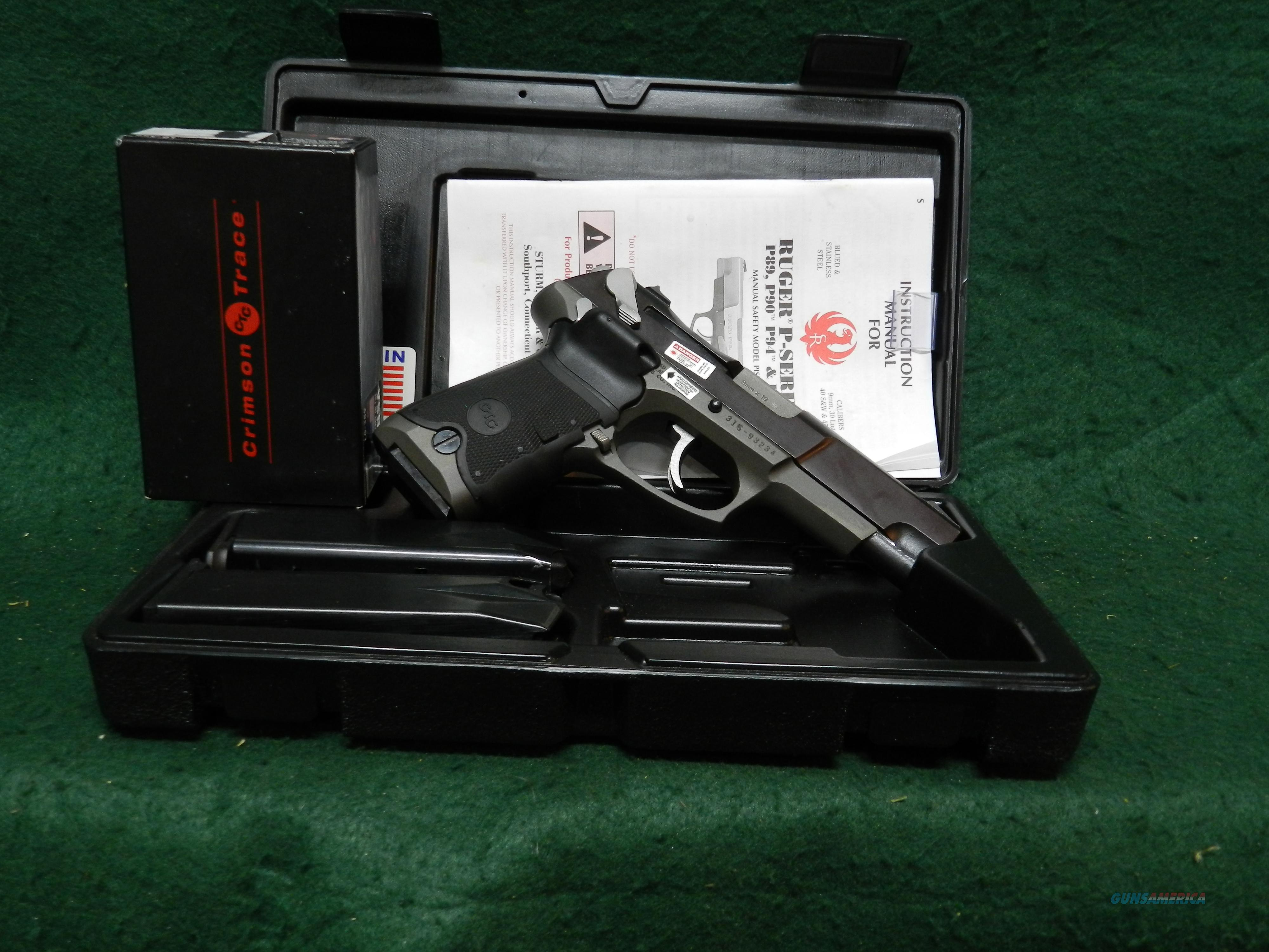 Ruger P89 with Crimson Trace Laser Grips  Guns > Pistols > Ruger Semi-Auto Pistols > P-Series