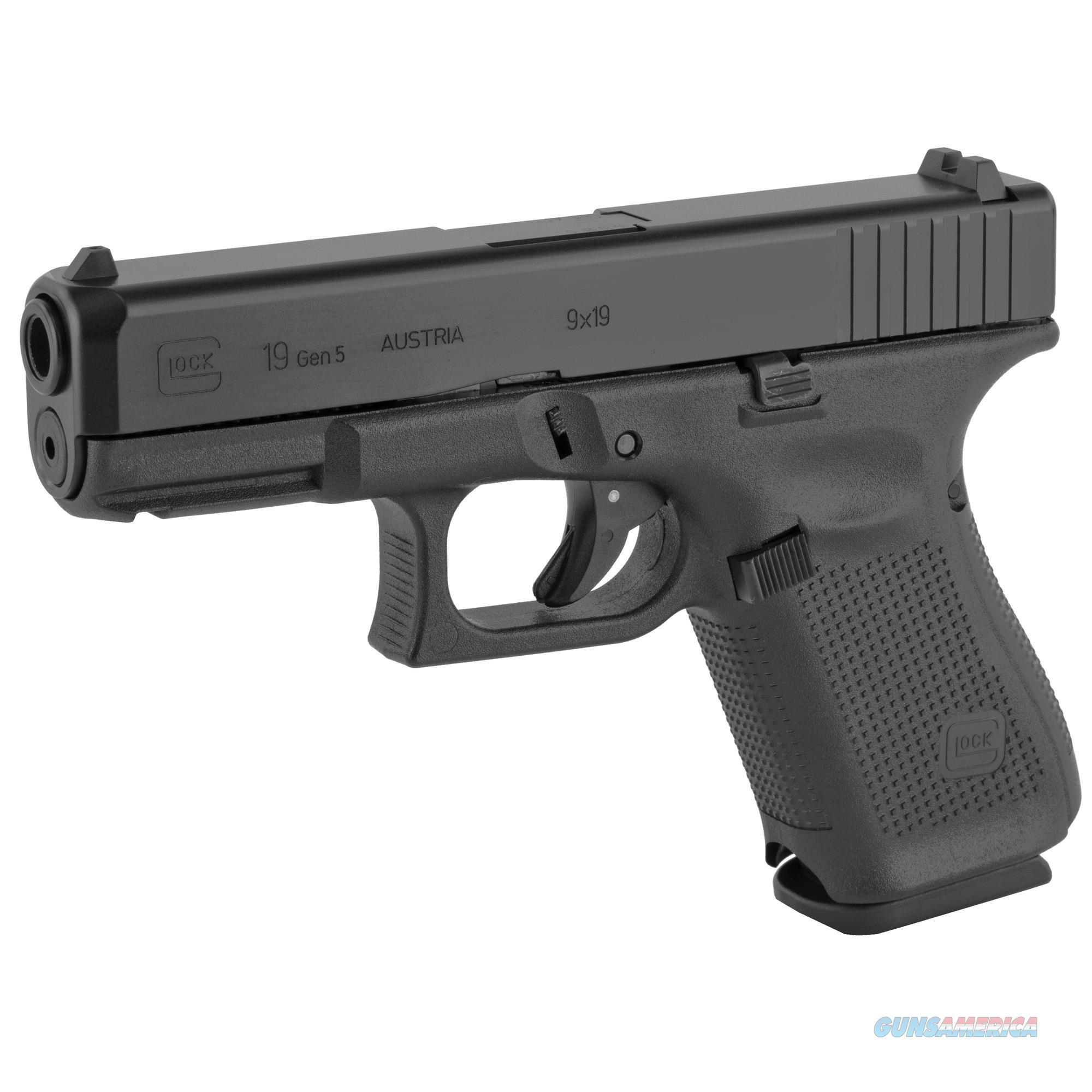 "Glock G19 Gen5 9mm Luger 4.02"" 15+1 - New in Case!  Guns > Pistols > Glock Pistols > 19/19X"