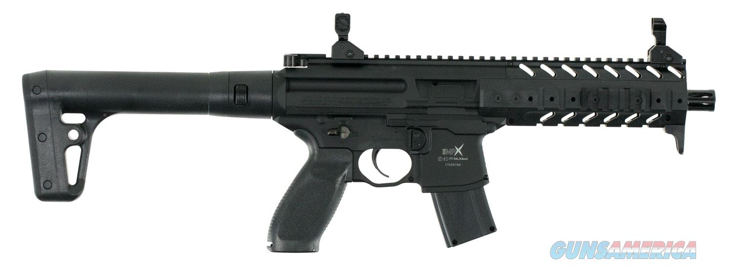 Sig Sauer, MPX, Semi-automatic CO2 Air Rifle, .177 Pellet, 88 Gram, Black Finish, Rugged Full Synthetic Stock, 30Rd, Metal Housing, Tactical Foregrip, 600 Feet per Second  Non-Guns > Air Rifles - Pistols > CO2 Rifle