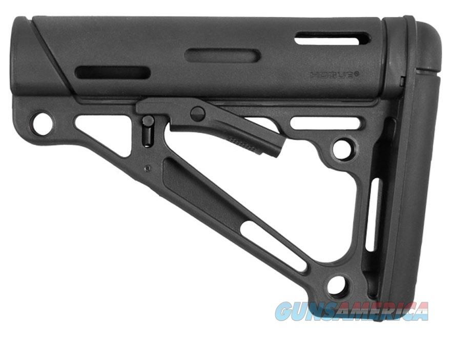 AR-15/M-16 OverMolded Collapsible Buttstock - Fits Mil-Spec Buffer Tube - Black Rubber  Non-Guns > Gun Parts > M16-AR15 > Upper Only