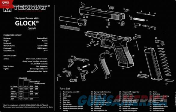 TEKMAT Armorers Bench Mat – Glock Gen4  Non-Guns > Gunsmith Tools/Supplies