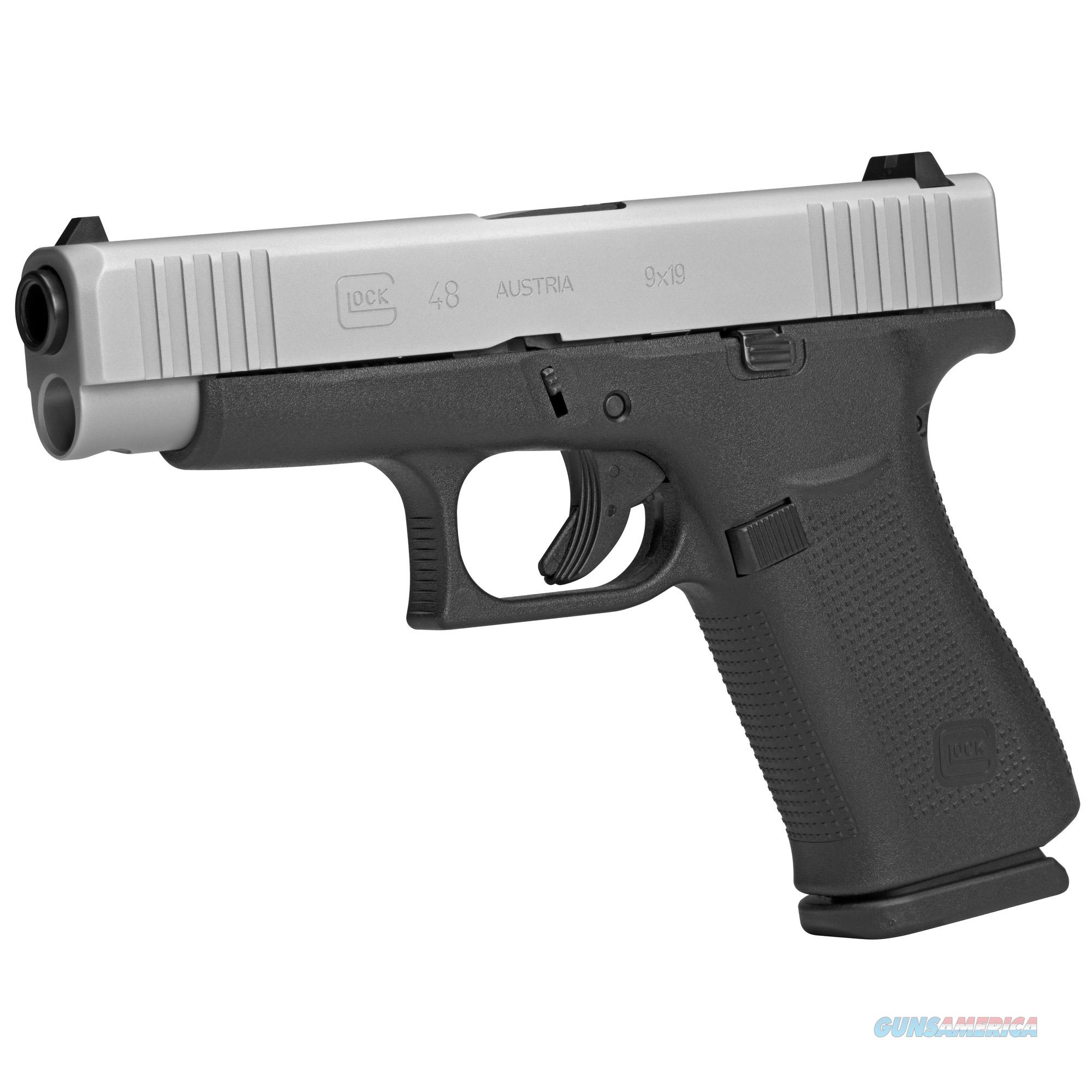 "Glock G48 Compact 9mm 4.17"" 10+1 Silver PVD Slide - New in Case!  Guns > Pistols > Glock Pistols > 48"