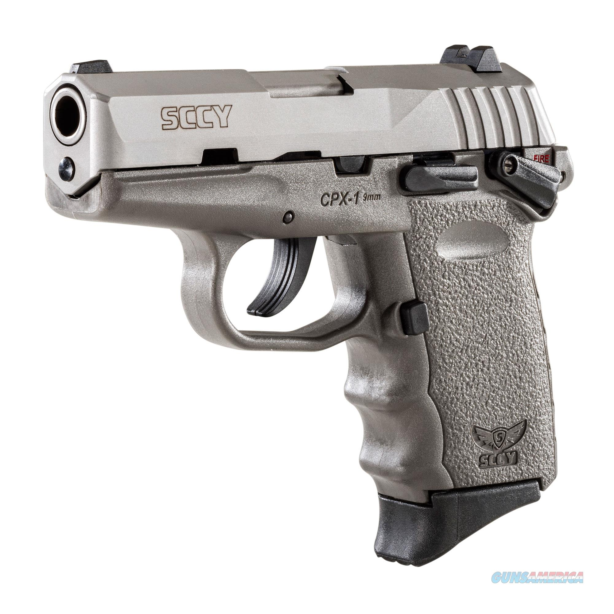 SCCY CPX-1 9mm Auto Pistol with Safety – Stainless/Sniper Gray  Guns > Pistols > SCCY Pistols > CPX1