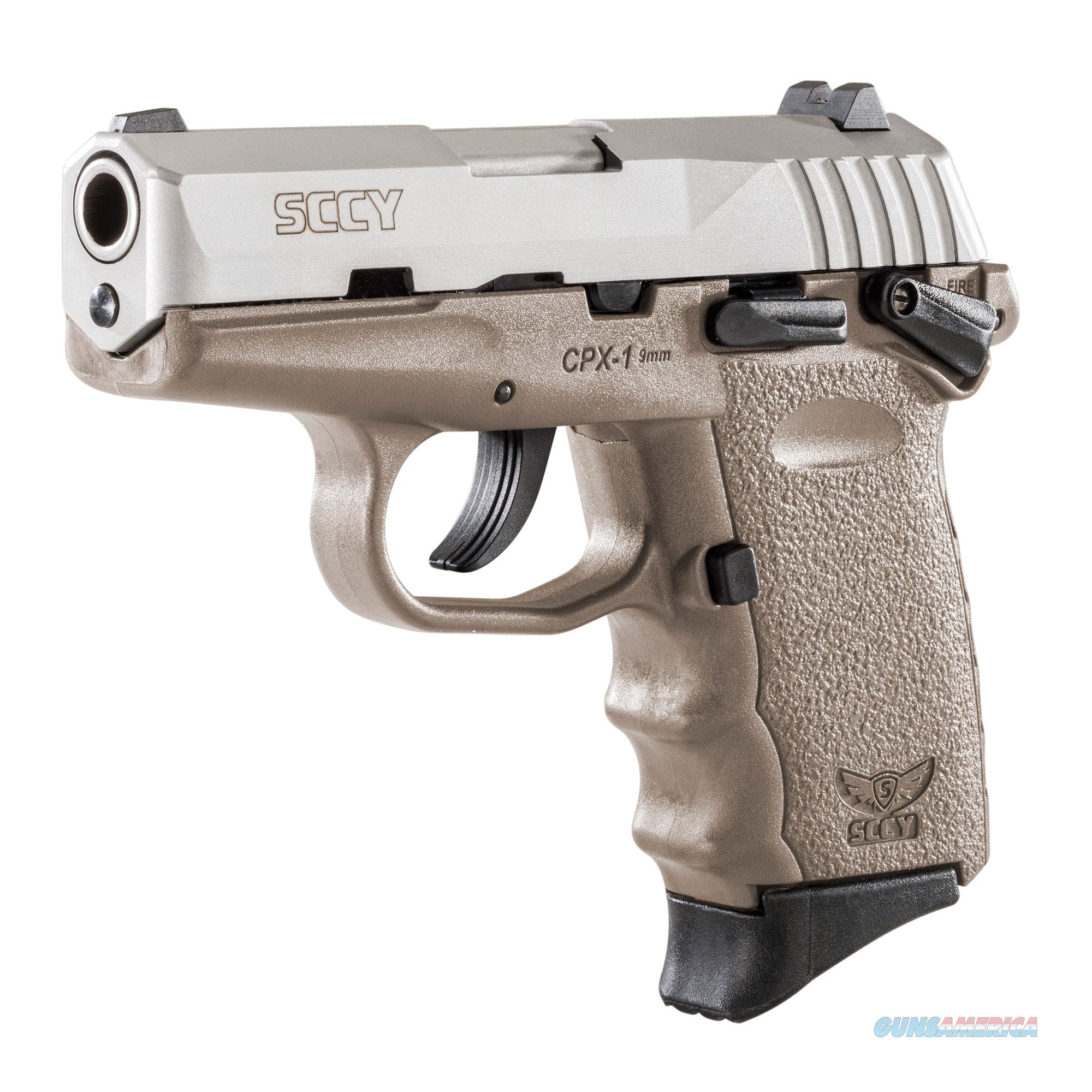 SCCY CPX-1 9mm Auto Pistol with Safety – Satin/FDE - New in Box  Guns > Pistols > SCCY Pistols > CPX1