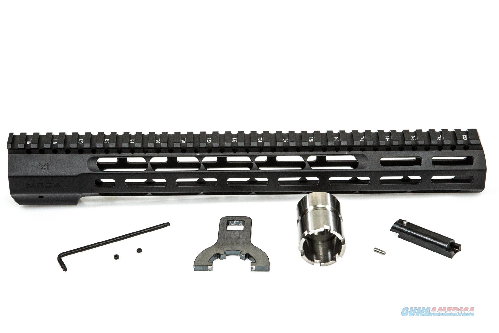 "Mega Arms AR15 Wedge Lock Extended Rifle Length (14"") M-LOK Hand Guard  Non-Guns > Gun Parts > M16-AR15 > Upper Only"