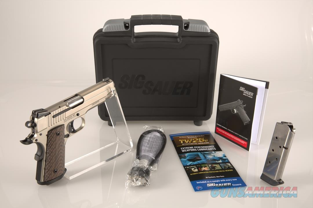"Sig Sauer 1911 Nickel Compact .45ACP 4.2"" 7+1 - New in Case  Guns > Pistols > Sig - Sauer/Sigarms Pistols > 1911"