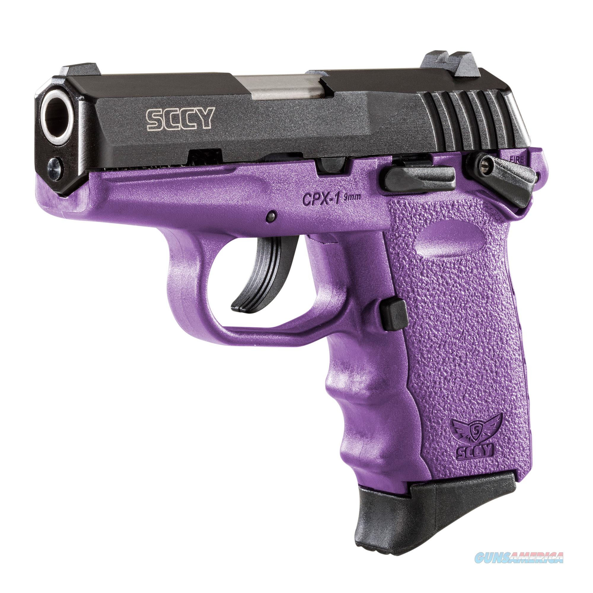 SCCY CPX-1 9mm Auto Pistol with Safety – Purple/Black - New in Box  Guns > Pistols > SCCY Pistols > CPX1