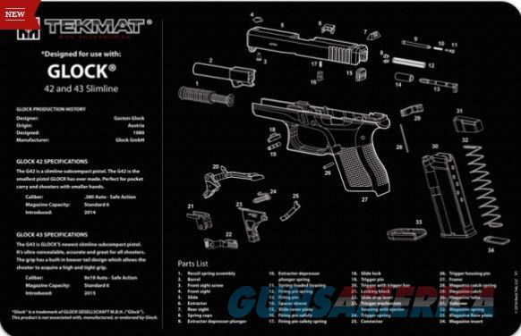 TEKMAT Armorers Bench Mat – Glock 42 and 43  Non-Guns > Gunsmith Tools/Supplies