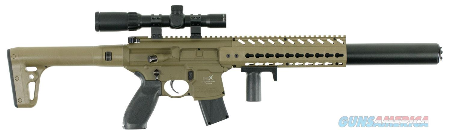 Sig Sauer MCX ASP Scoped Air Rifle Semi-Automatic .177 Pellet, FDE  Non-Guns > Air Rifles - Pistols > CO2 Rifle