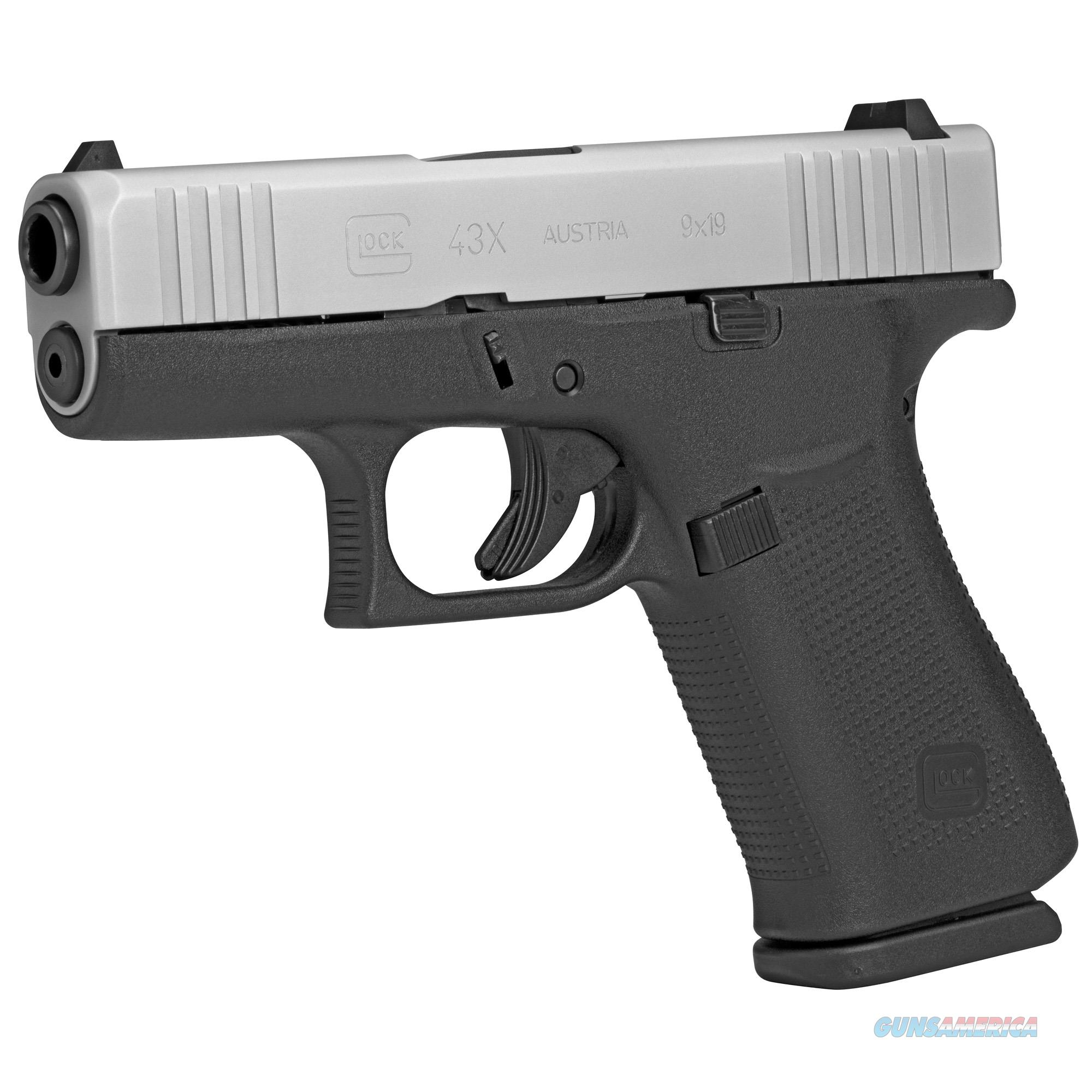 Glock G43X 9mm Luger with Silver PVD Slide - New in Case!  Guns > Pistols > Glock Pistols > 43/43X