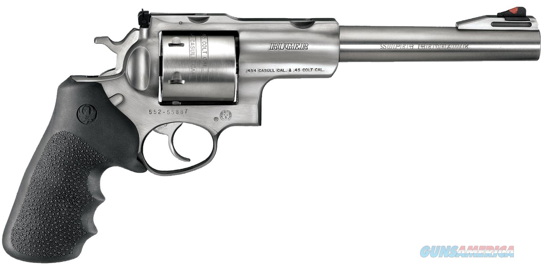 "Ruger Super Redhawk .454 Casull 7.5"" 6 Shot Hogue Grips - New in Box  Guns > Pistols > Ruger Double Action Revolver > Redhawk Type"
