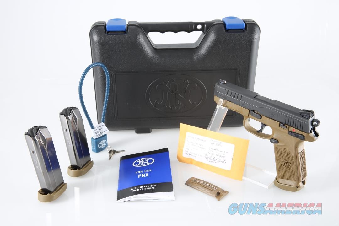 "FN FNX-45 .45 ACP 4.5"" 15+1 - New in Case  Guns > Pistols > FNH - Fabrique Nationale (FN) Pistols > FNX"