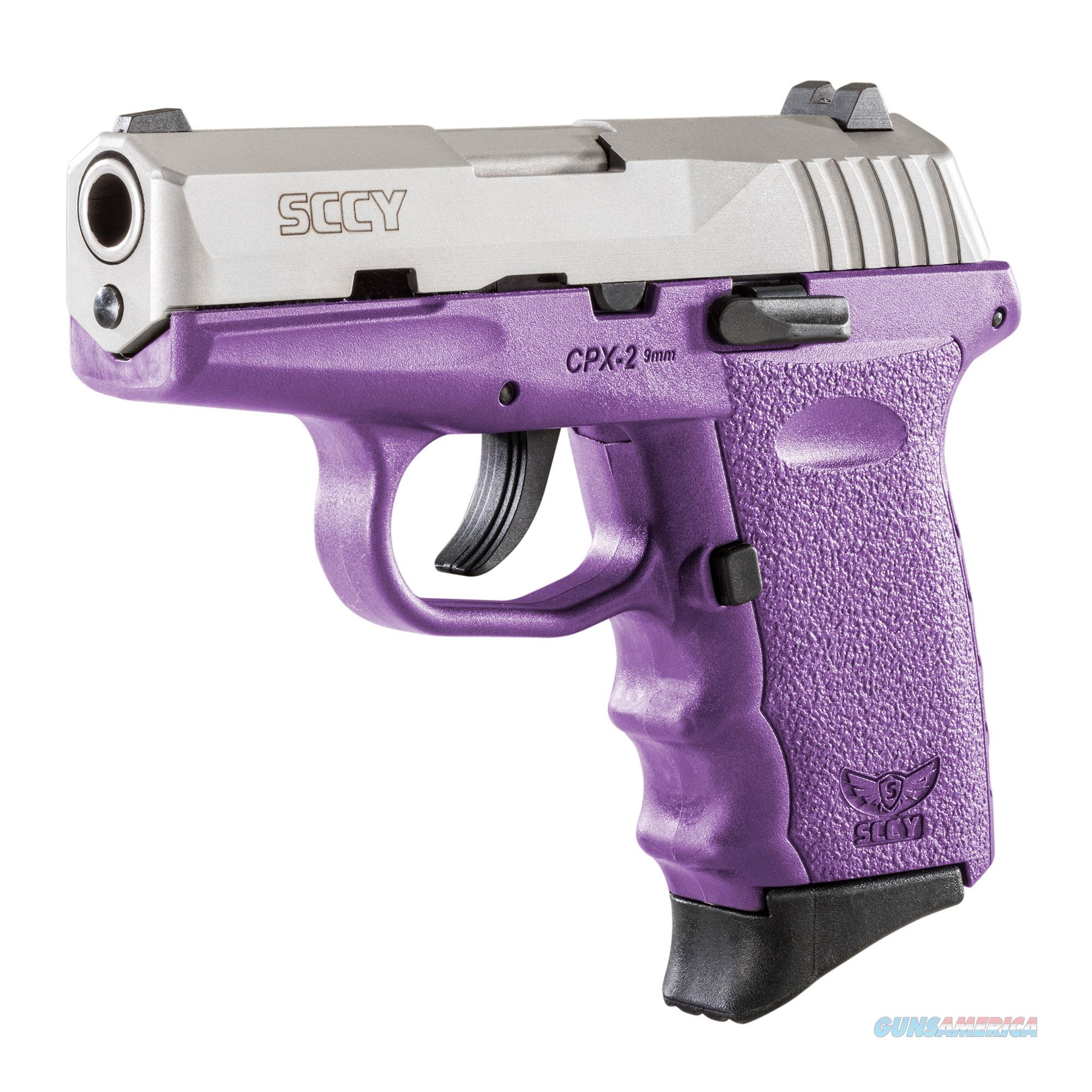 SCCY CPX-2 9mm Auto Pistol – Stainless/Purple - New in Box  Guns > Pistols > SCCY Pistols > CPX2