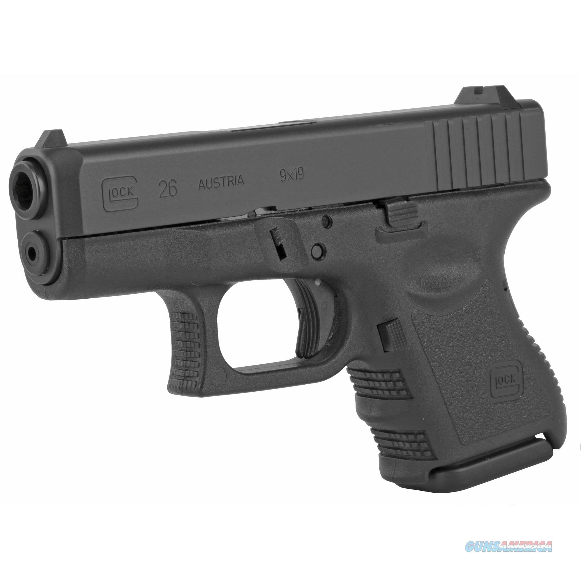 "Glock G26 *CA Compliant* 9mm 3.42"" 10+1 + New in Case!    Guns > Pistols > Glock Pistols > 26/27"