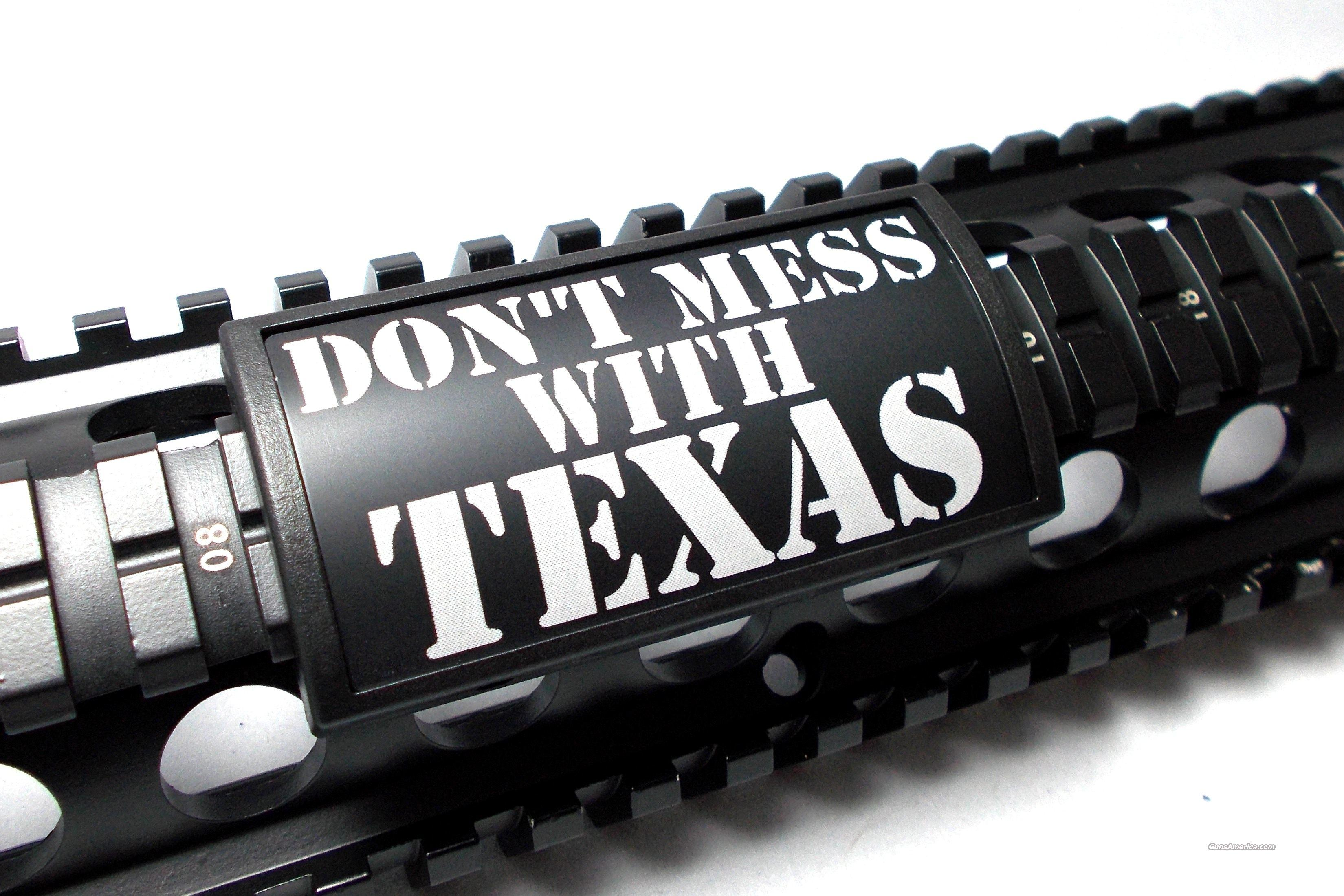 AR15/M4 Custom Picatinny Rail Cover – DON'T MESS WITH TEXAS  Non-Guns > Gun Parts > M16-AR15