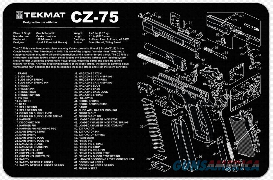 TEKMAT Armorers Bench Mat – CZ-75  Non-Guns > Gunsmith Tools/Supplies
