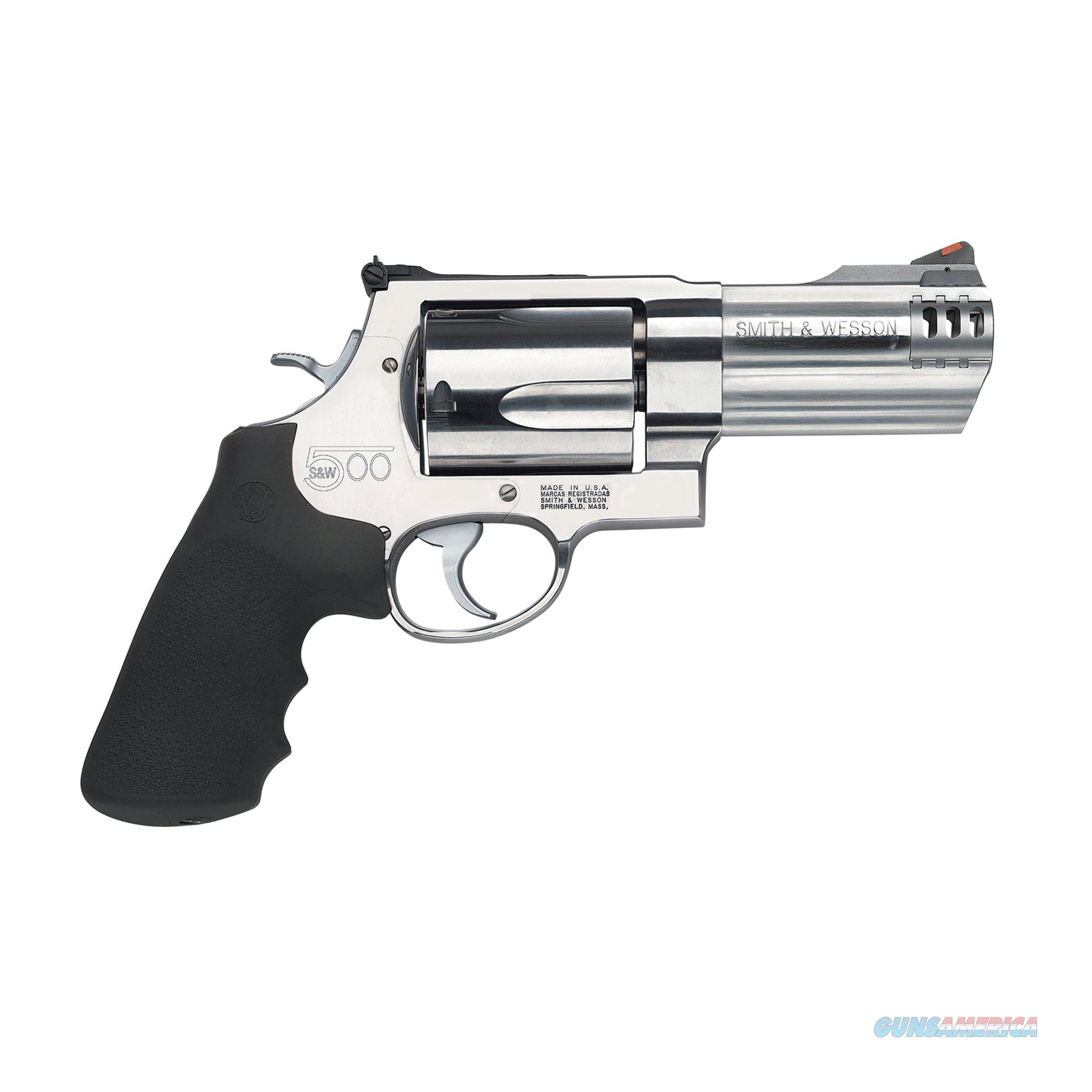 """Smith & Wesson .500 S&W 4"""" 5 Round Synthetic Grip Stainless Steel - New in Box  Guns > Pistols > Smith & Wesson Revolvers > Full Frame Revolver"""