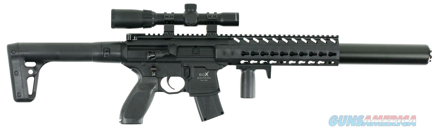 Sig Sauer MCX ASP Scoped Air Rifle Semi-Automatic .177 Pellet, Black  Non-Guns > Air Rifles - Pistols > CO2 Rifle