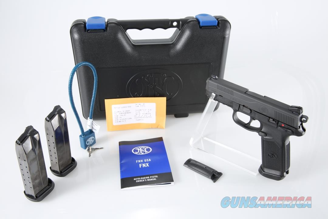 "FNH USA FNX-45 45ACP 4.5"" 15+1 - New in Case  Guns > Pistols > FNH - Fabrique Nationale (FN) Pistols > FNX"