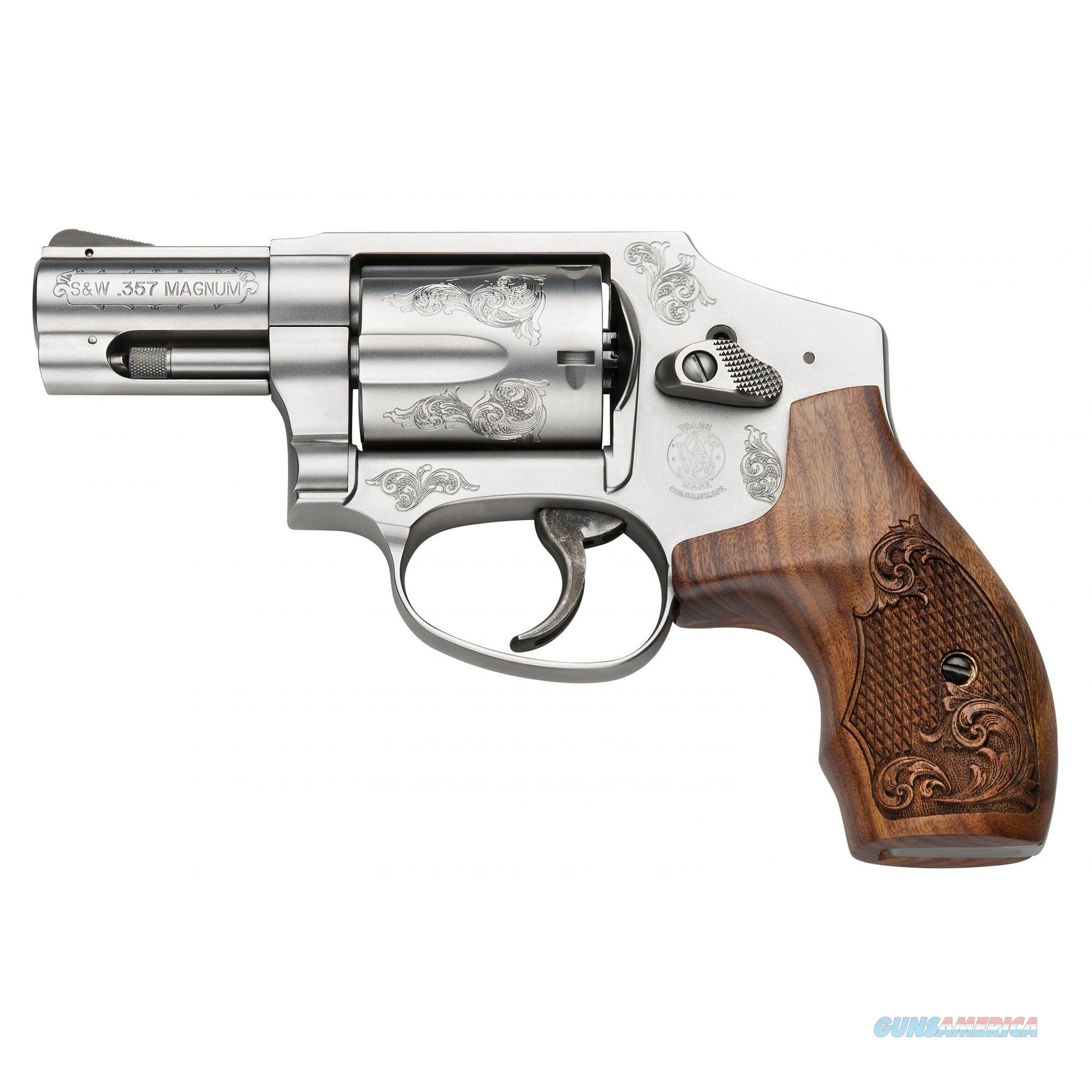 """Smith & Wesson 640 Machine Engraved .357 Magnum 2.125"""" 5 Shot Stainless w/Engraved Wood Grip - New in Box  Guns > Pistols > Smith & Wesson Revolvers > Small Frame ( J )"""
