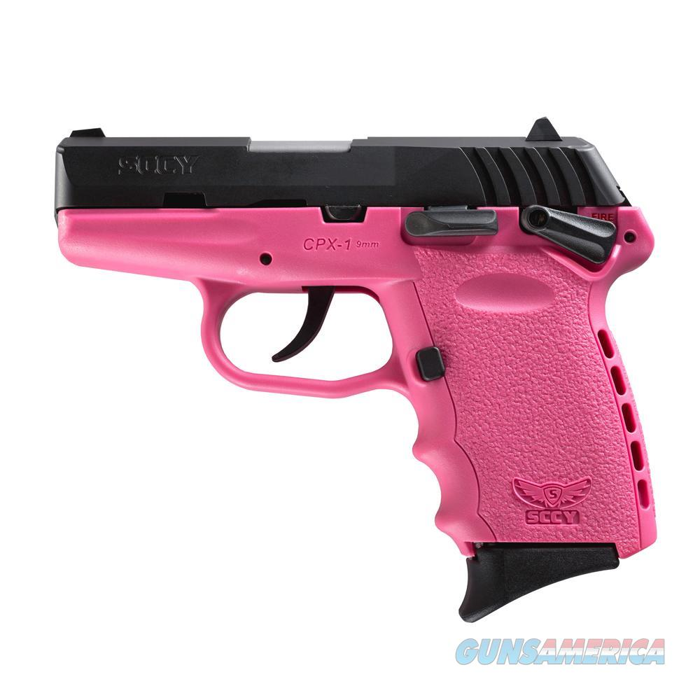 SCCY CPX-1 9mm Auto Pistol with Safety – Pink/Black - New in Box  Guns > Pistols > SCCY Pistols > CPX1