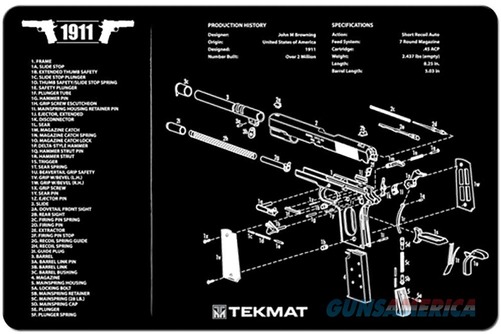 TEKMAT Armorers Bench Mat – 1911 3D Cutaway  Non-Guns > Gunsmith Tools/Supplies