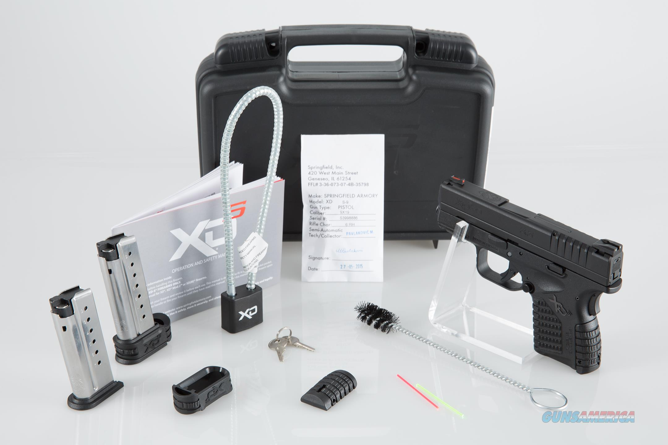 "Springfield XD-S 9mm DAO 3.3"" 7+1 Polymer Black - New in Box  Guns > Pistols > Springfield Armory Pistols > XD-S"