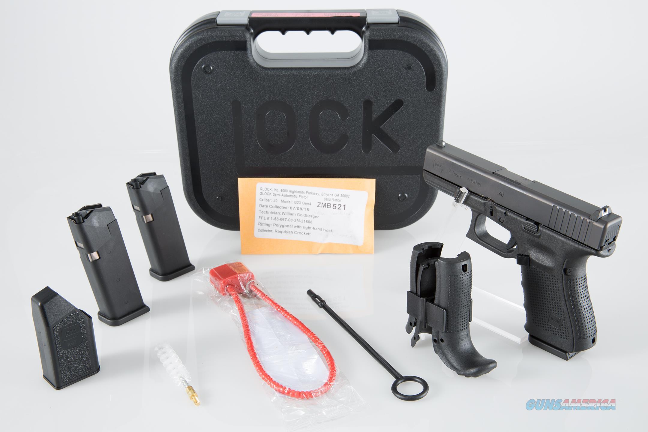 """Glock G23 Gen 4 .40 S&W 4.01"""" 13+1 - New in Case  Guns > Pistols > Glock Pistols > 23"""