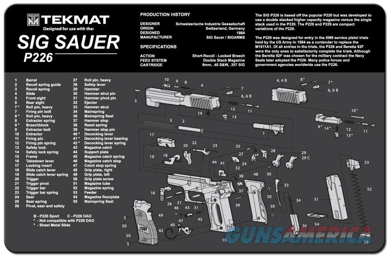 TEKMAT Armorers Bench Mat – Sig Sauer P226  Non-Guns > Gunsmith Tools/Supplies