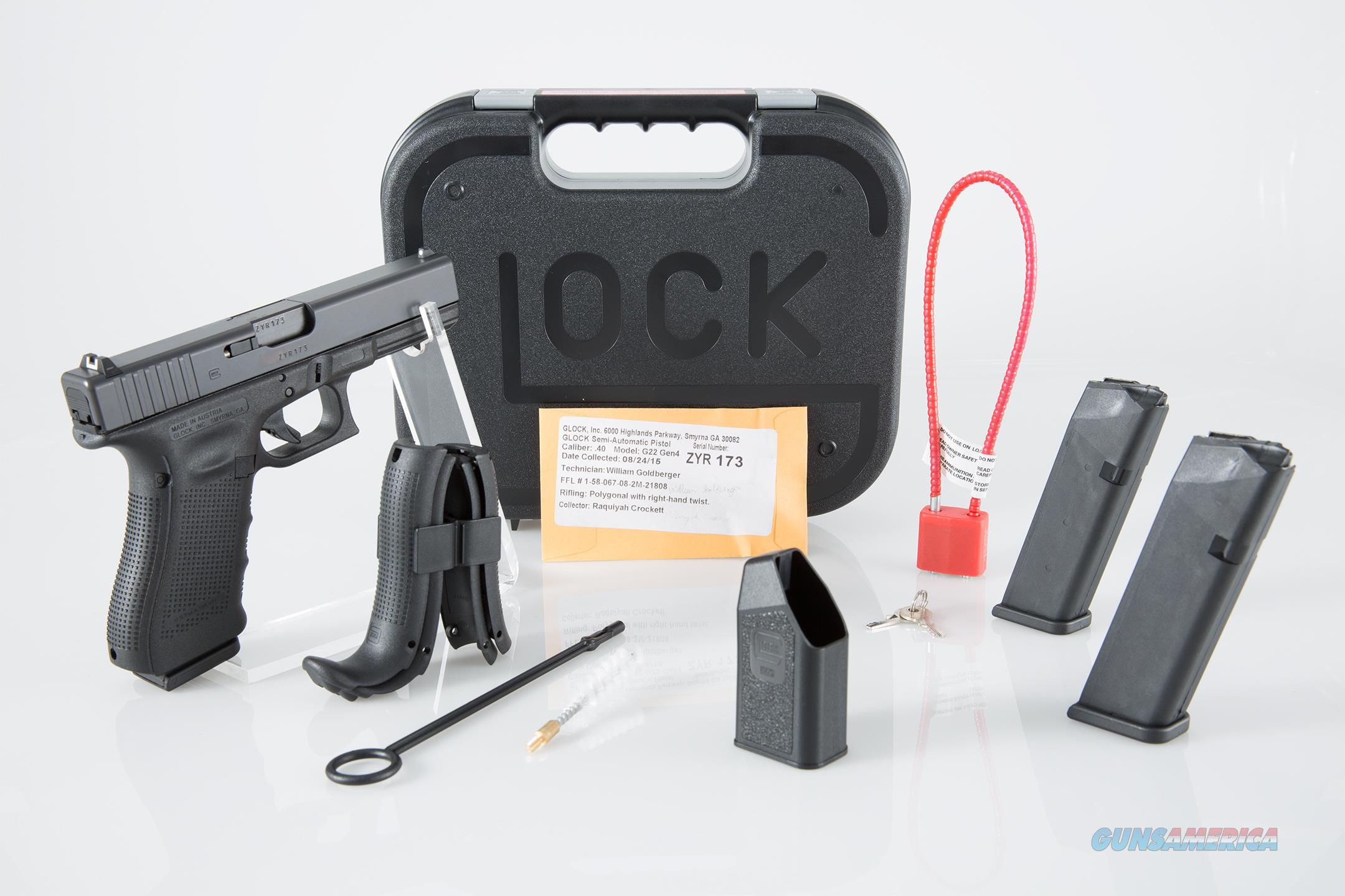 """Glock G22 Gen 4 .40 S&W 4.49"""" 15+1 - New in Case  Guns > Pistols > Glock Pistols > 22"""