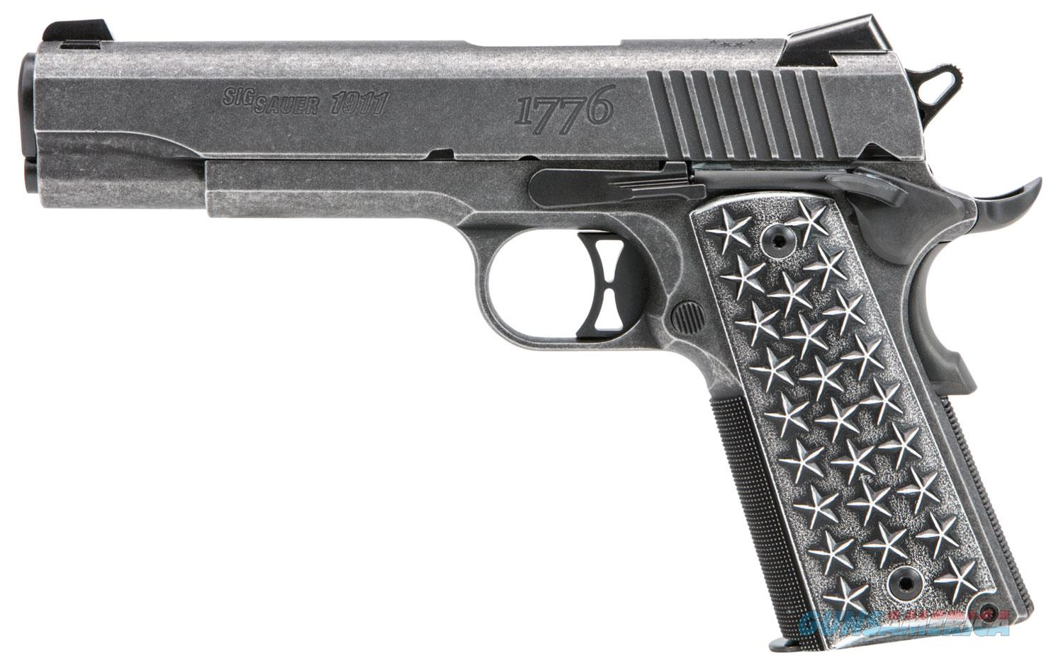 "Sig Sauer 1911 We The People.45 ACP 5"" 7+1 Star Aluminum Grip Distressed Stainless Steel - New in Case  Guns > Pistols > Sig - Sauer/Sigarms Pistols > 1911"