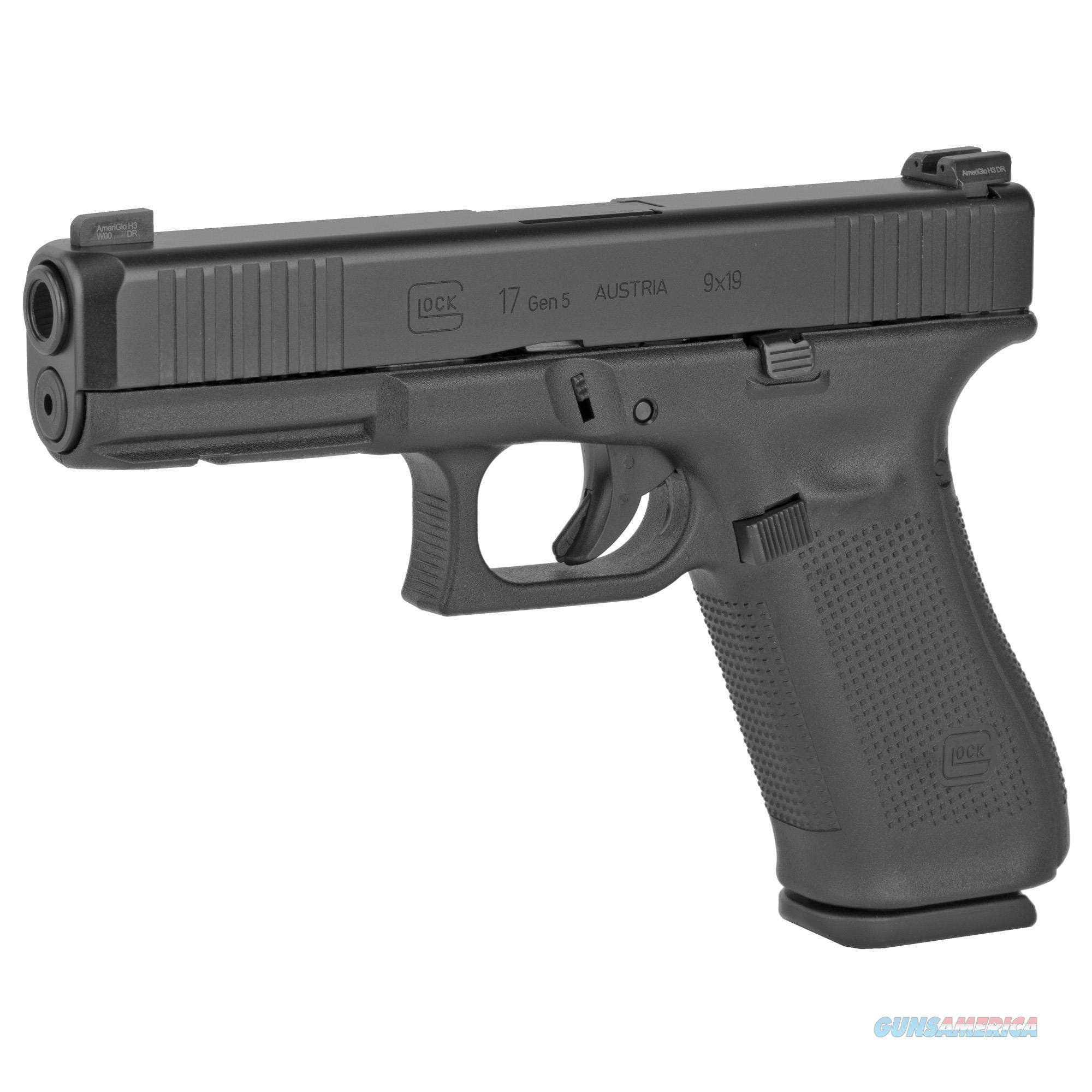 "Glock G17 Gen5 with AmeriGlo Sight 9mm 4.49"" 17+1 - New in Case  Guns > Pistols > Glock Pistols > 17"