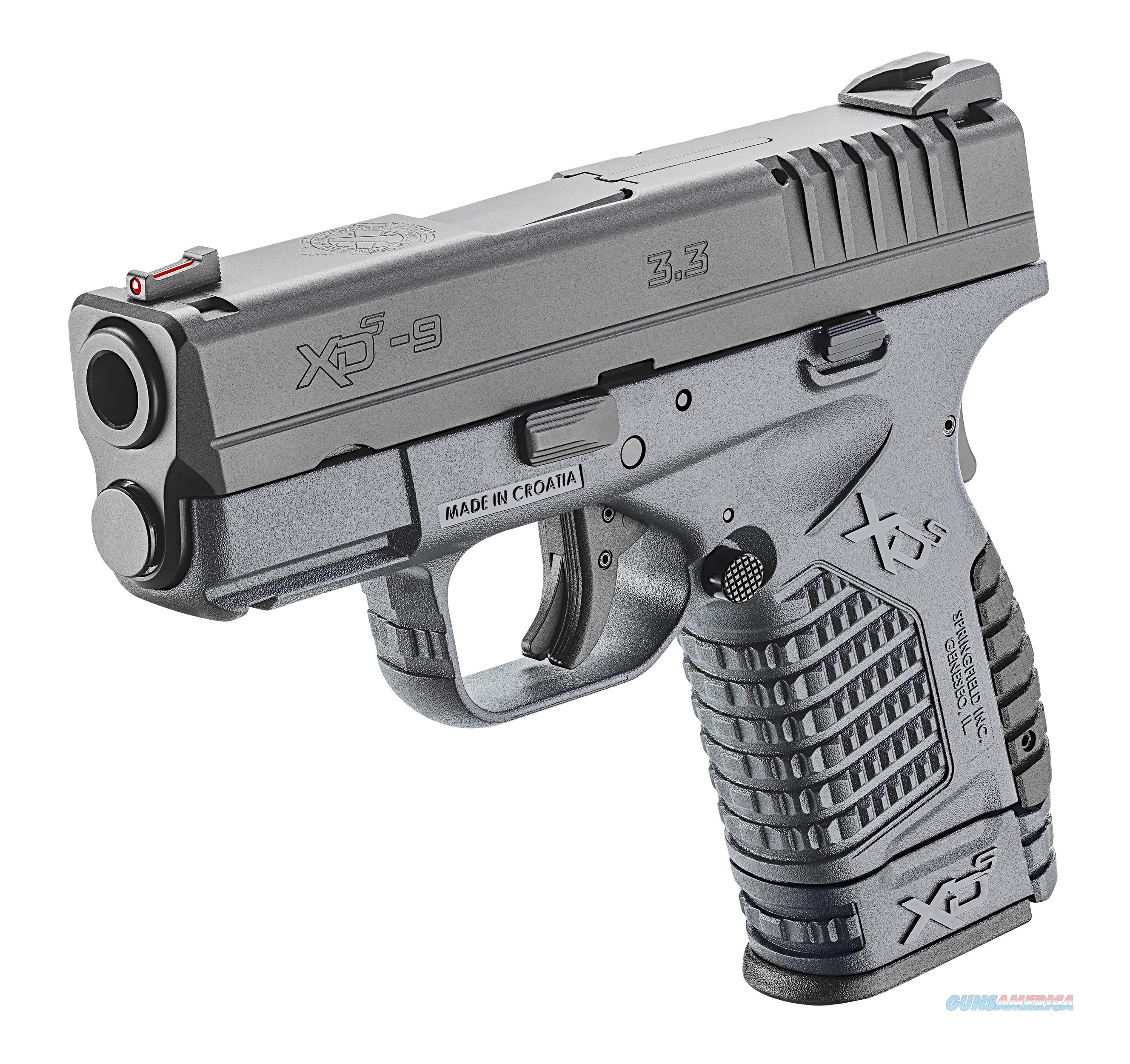 "Springfield XD-S 9mm 3.3"" 7+1/8+1 - Tactical Gray - New in Case  Guns > Pistols > Springfield Armory Pistols > XD-S"