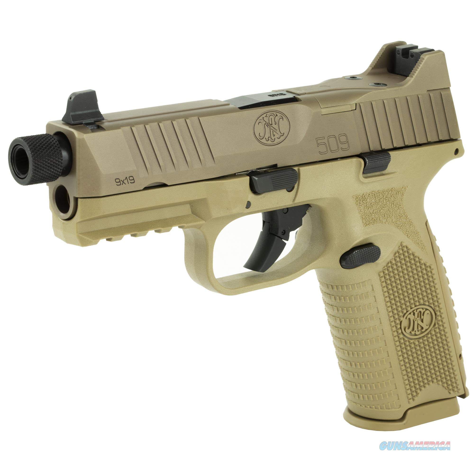 """FN 509 Tactical 9mm 4.5"""" 10+1 Flat Dark Earth - New in Case!  Guns > Pistols > FNH - Fabrique Nationale (FN) Pistols > FN 509"""